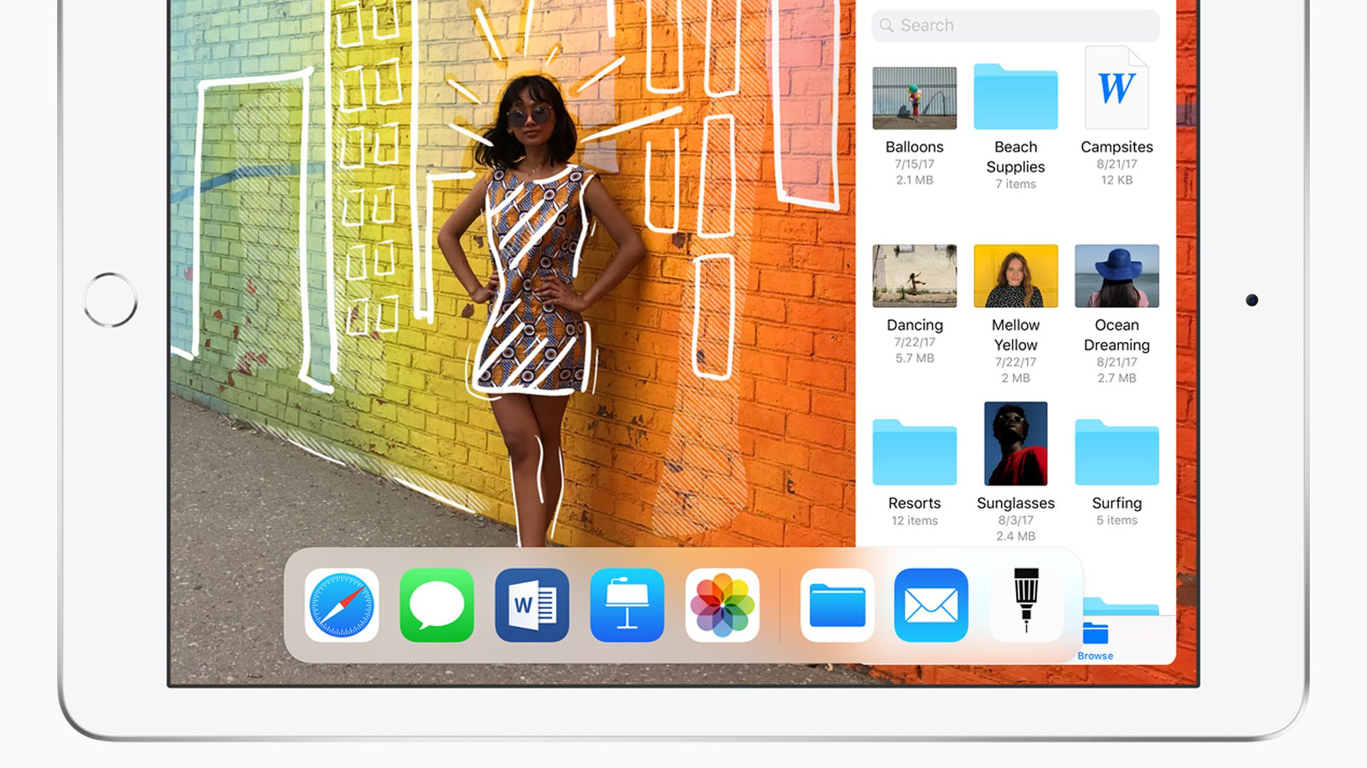 The new low-end iPad features Apple Pencil support