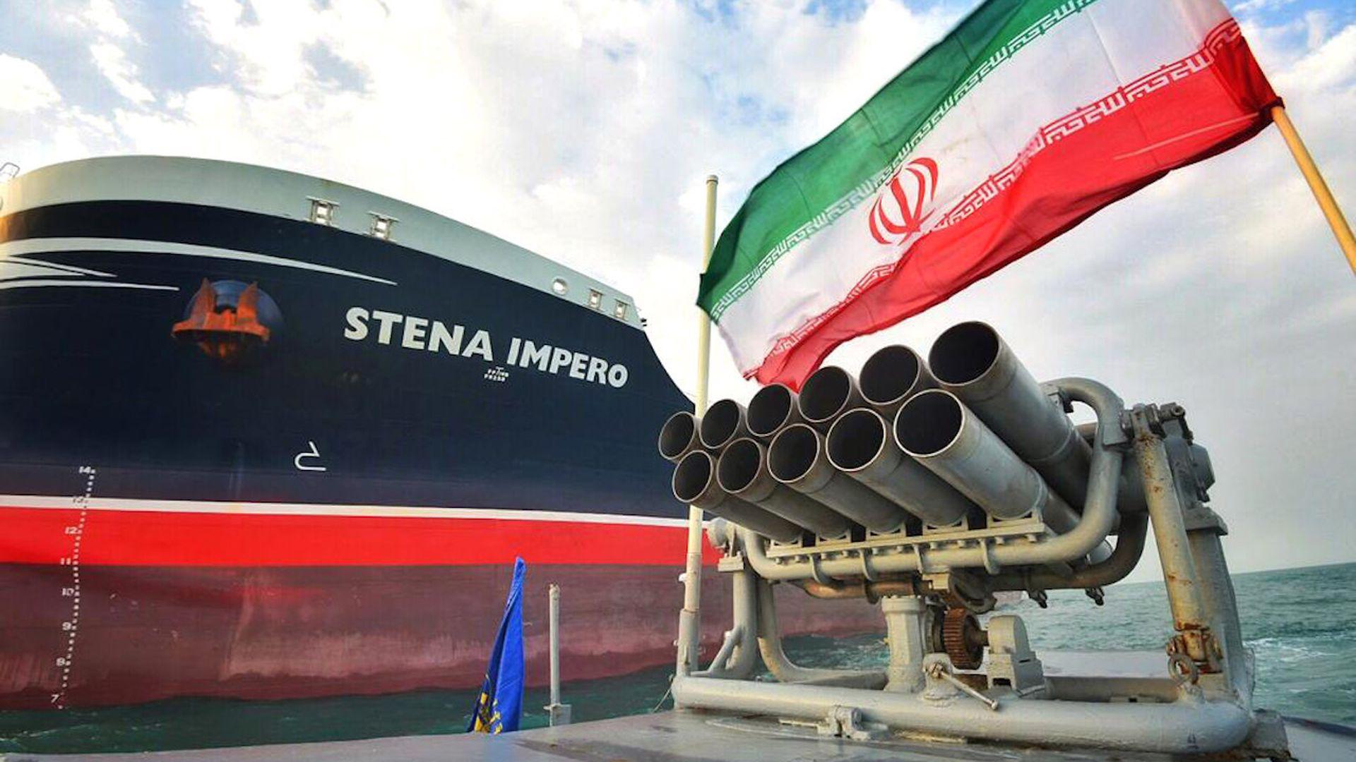 Detained British oil tanker  Stena Impero