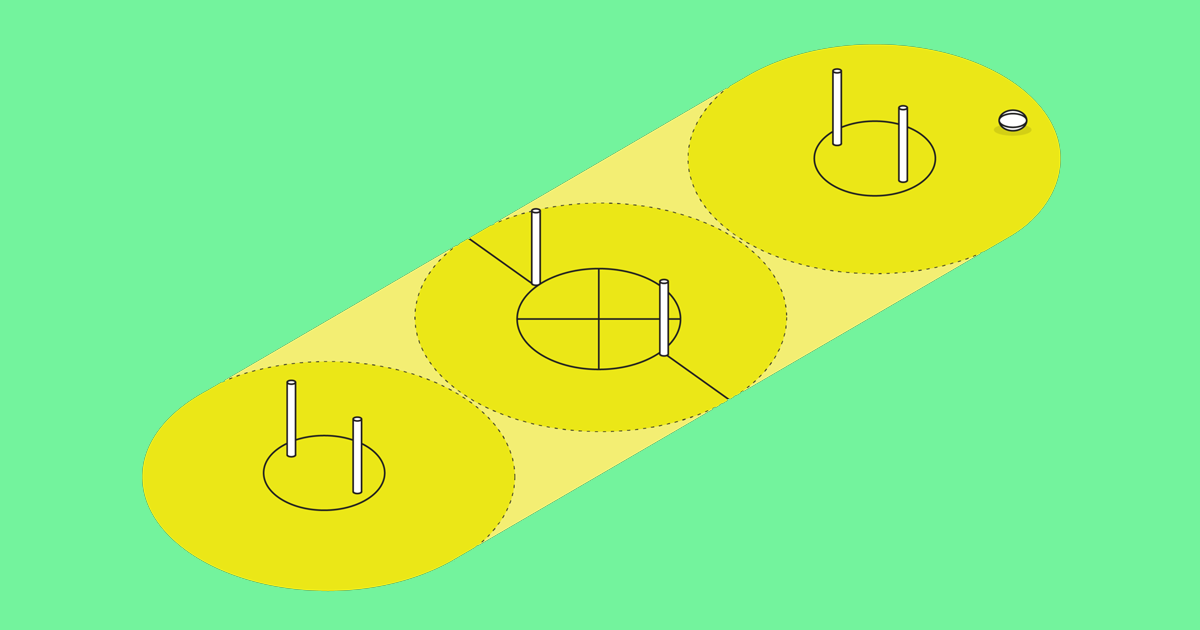 An illustration of a speedgate field