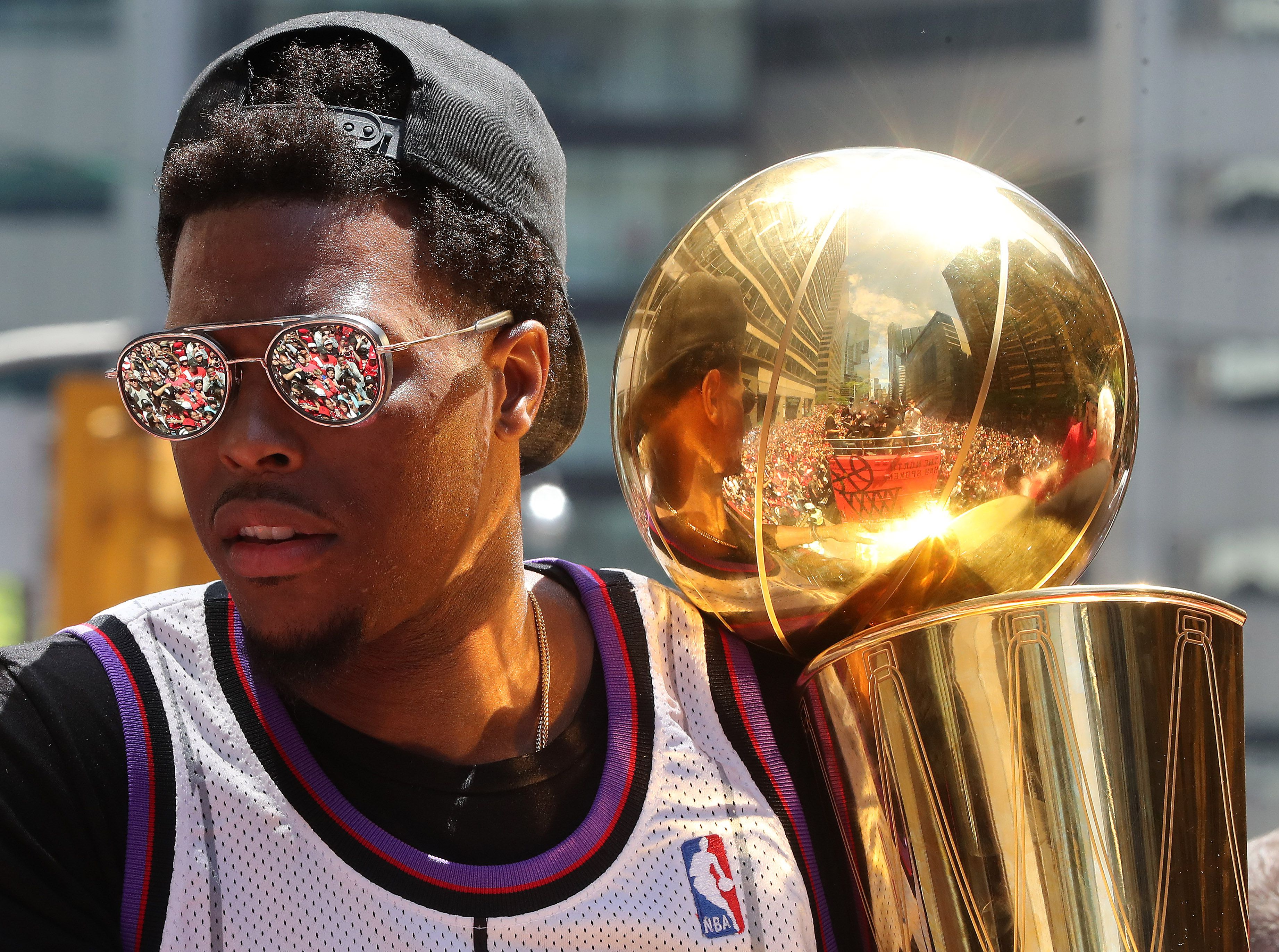 Kyle Lowry at the Raptors parade