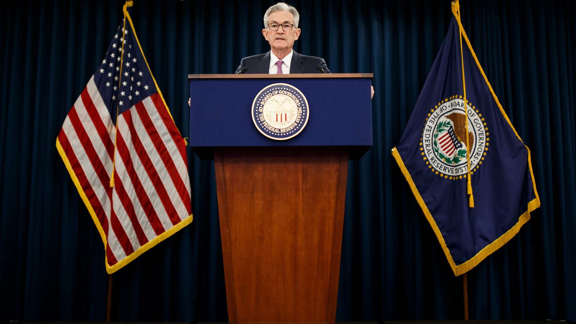WASHINGTON , June 19, 2019 -- U.S. Federal Reserve Chairman Jerome Powell speaks at a press conference in Washington D.C., the United States, on June 19, 2019
