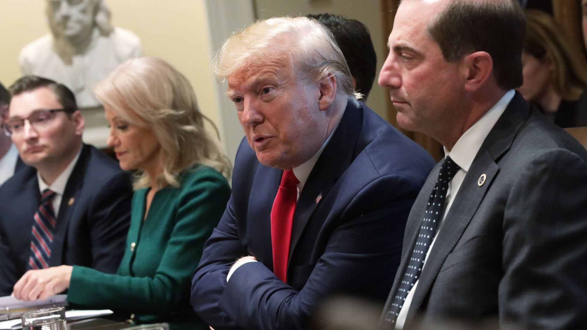 President Donald Trump speaks during a listening session on youth vaping of electronic cigarette on November 22, 2019 in the Cabinet Room