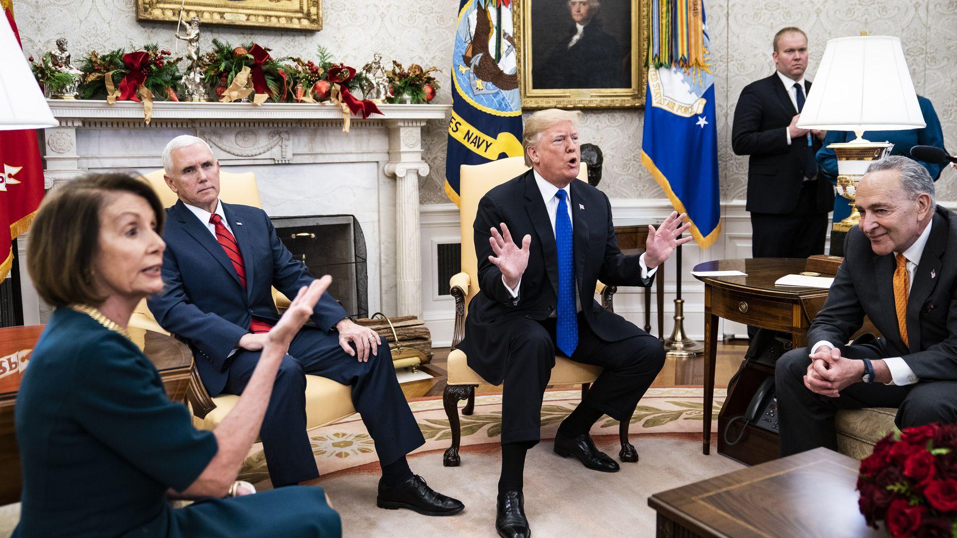 Pelosi, Pence, Trump and Schumer