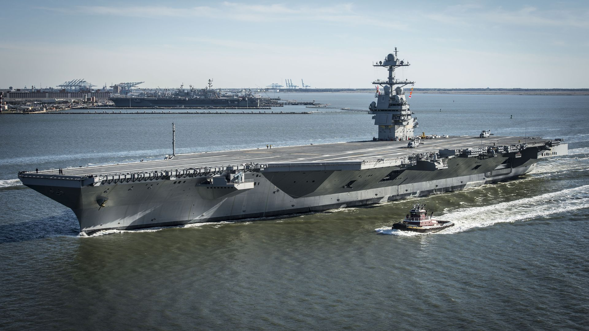USS Gerald R. Ford, a Naval aircraft carrier