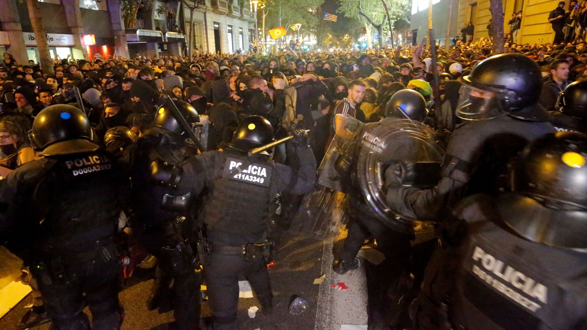 In photos: Unrest in Barcelona after Spain jails Catalan separatists