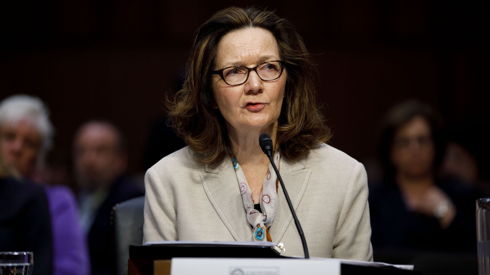 Gina Haspel at her CIA confirmation hearing