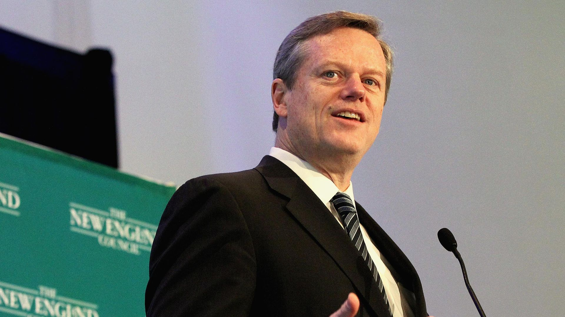 Massachusetts Gov. Charlie Baker (R). Photo: Wendy Maeda/The Boston Globe via Getty Images