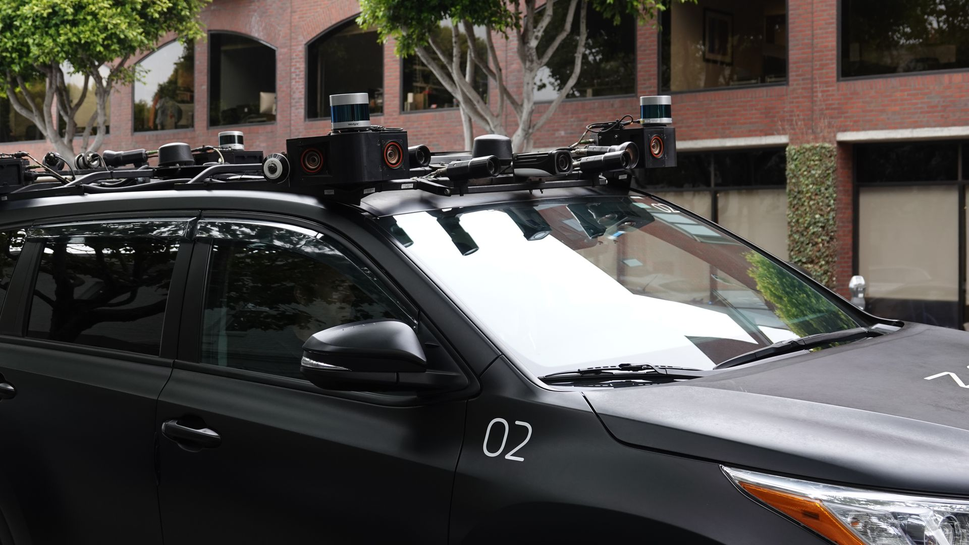 Zoox self-driving car a the street in San Francisco.