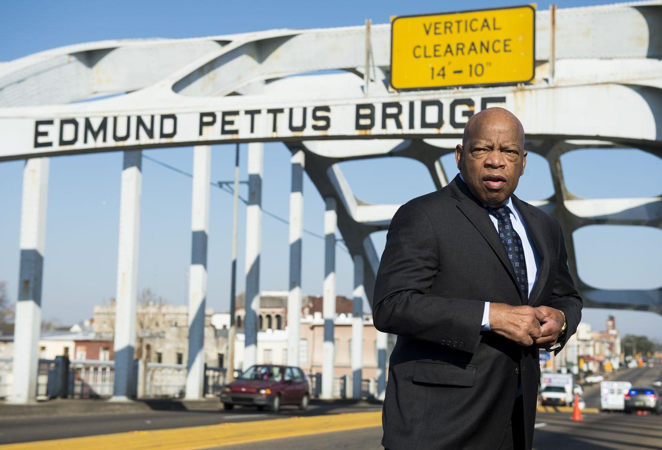 John Lewis to be carried across Edmund Pettus Bridge for final time thumbnail