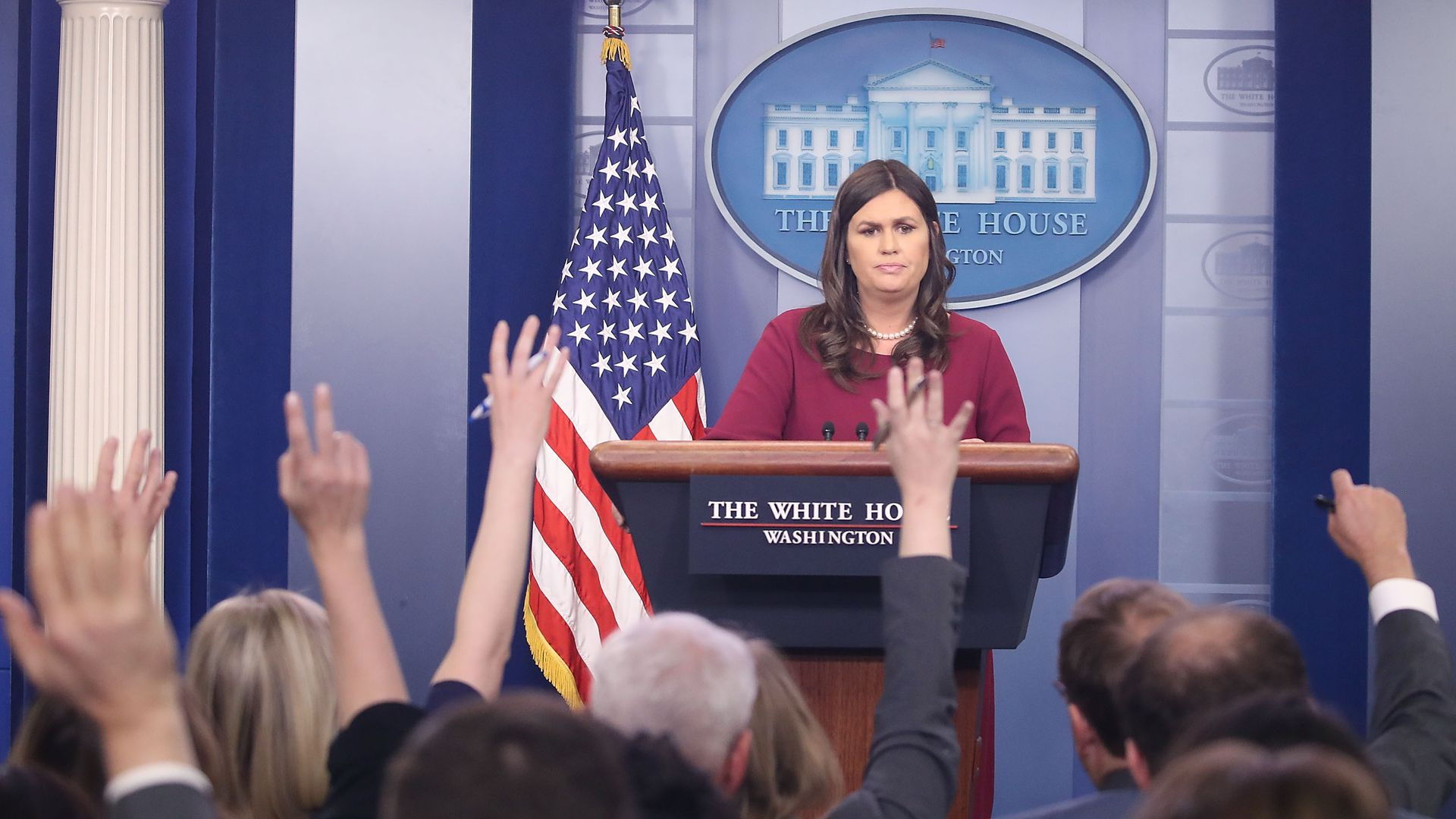 White House Press Secretary Sarah Sanders.