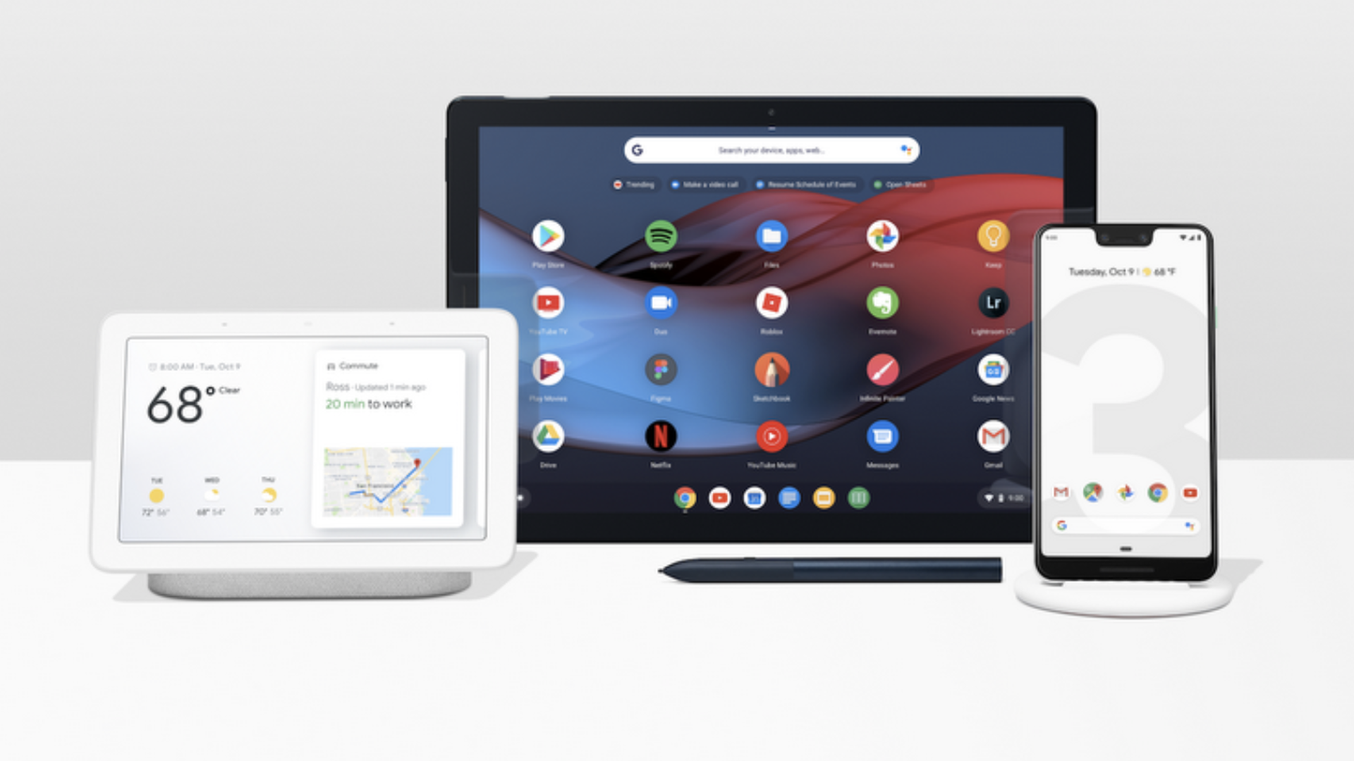 Google's new hardware lineup: Pixel 3, Google Home Hub, Pixel Slate