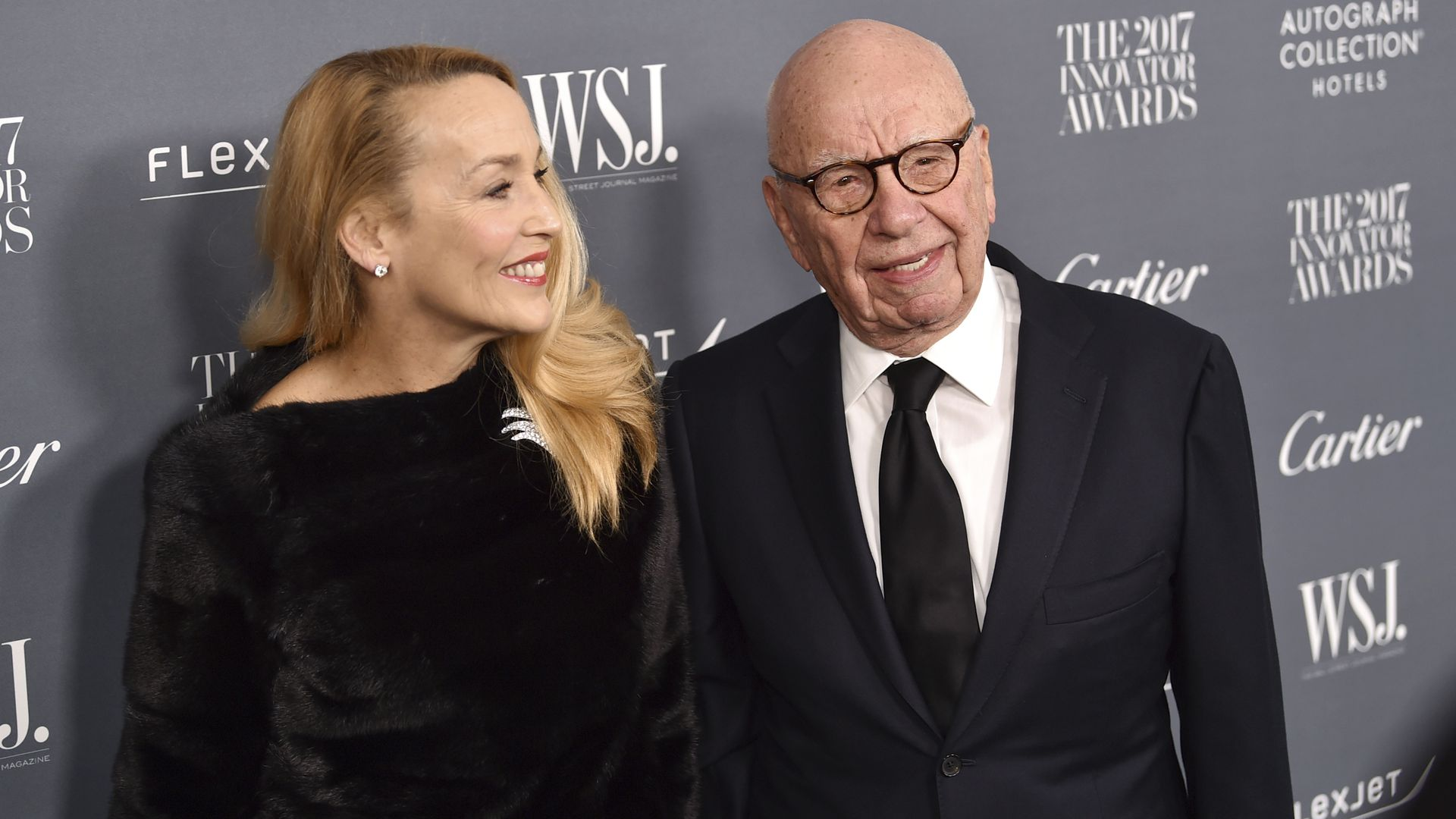 Fox News chairman and CEO Rupert Murdoch and wife Jerry Hall.