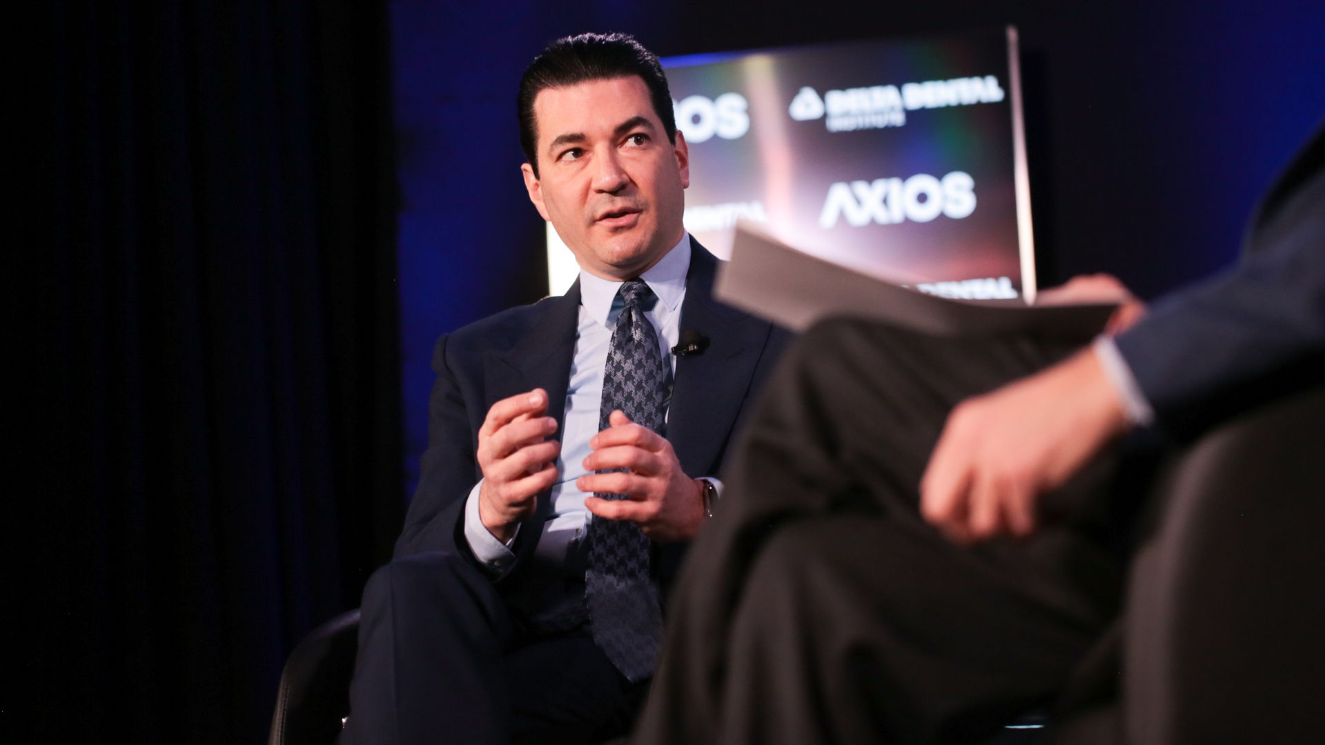 Dr. Scott Gottlieb on the Axios stage.