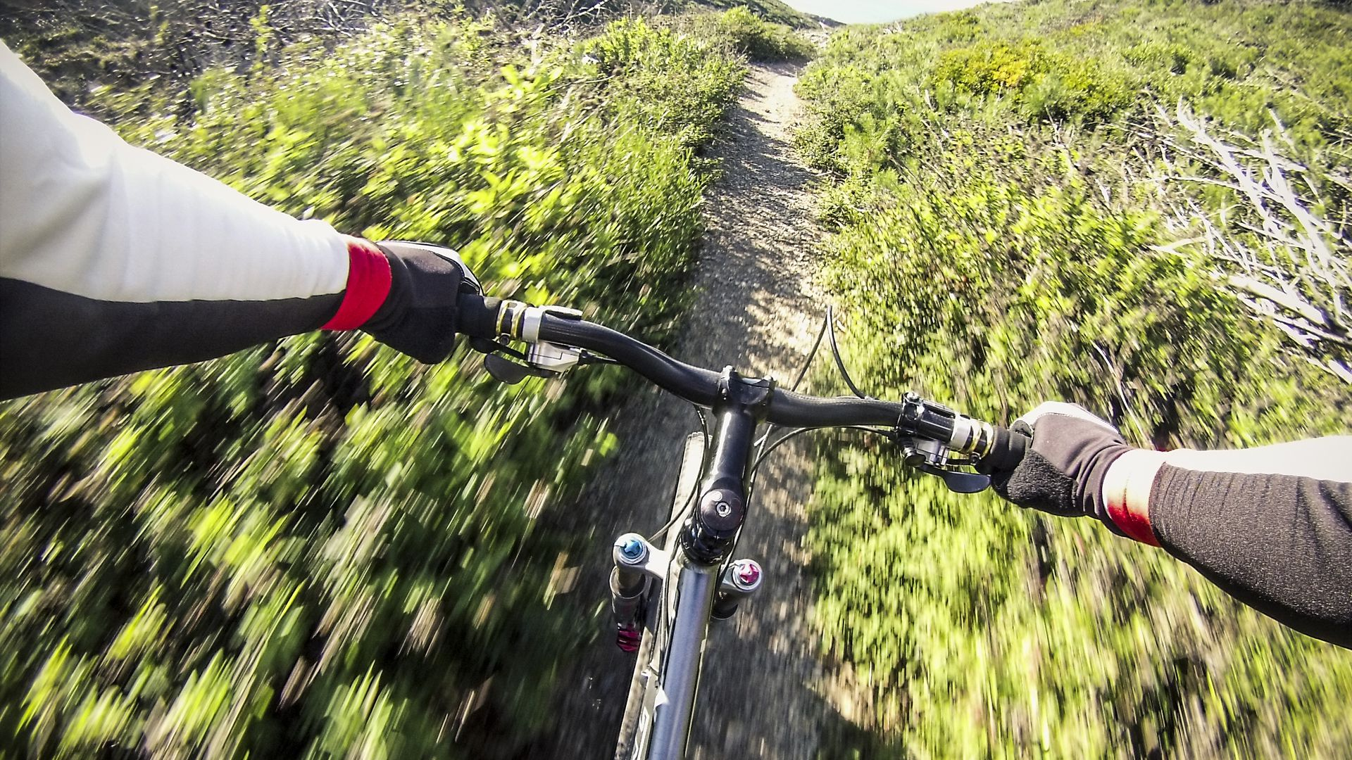Biker using GoPro camera
