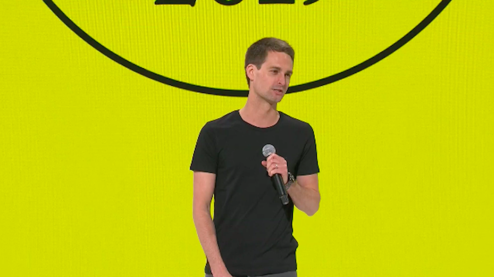 Snapchat CEO Evan Spiegel speaking at Snaphcat Partner Summit on April 4th in Santa Monica