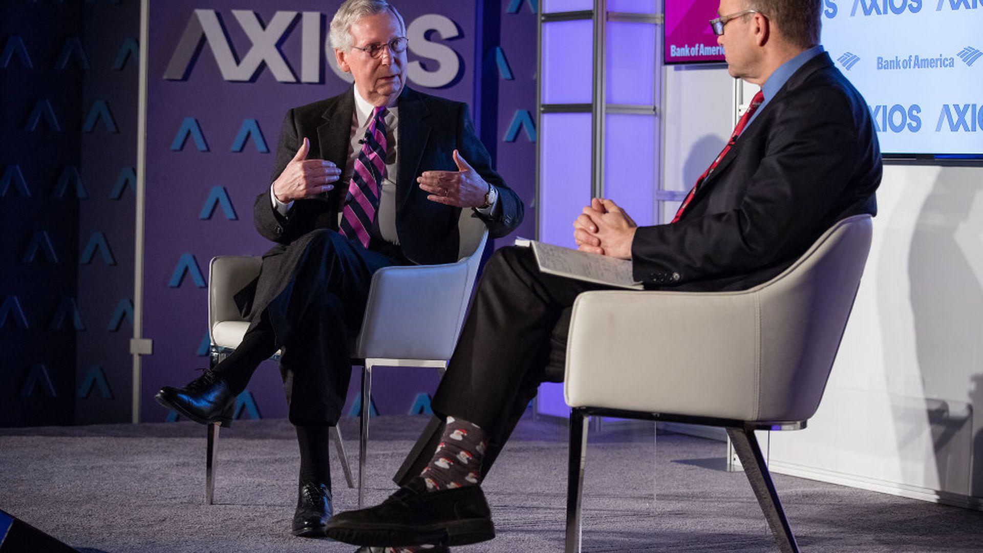 Axios360 News Shapers: Senate Majority Leader Mitch McConnell & Senator  Mark Warner