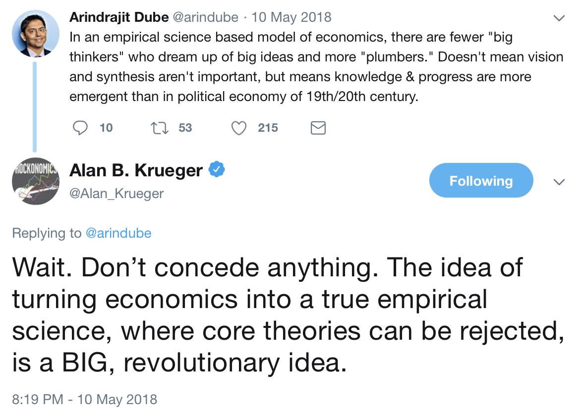 Alan Krueger tweet