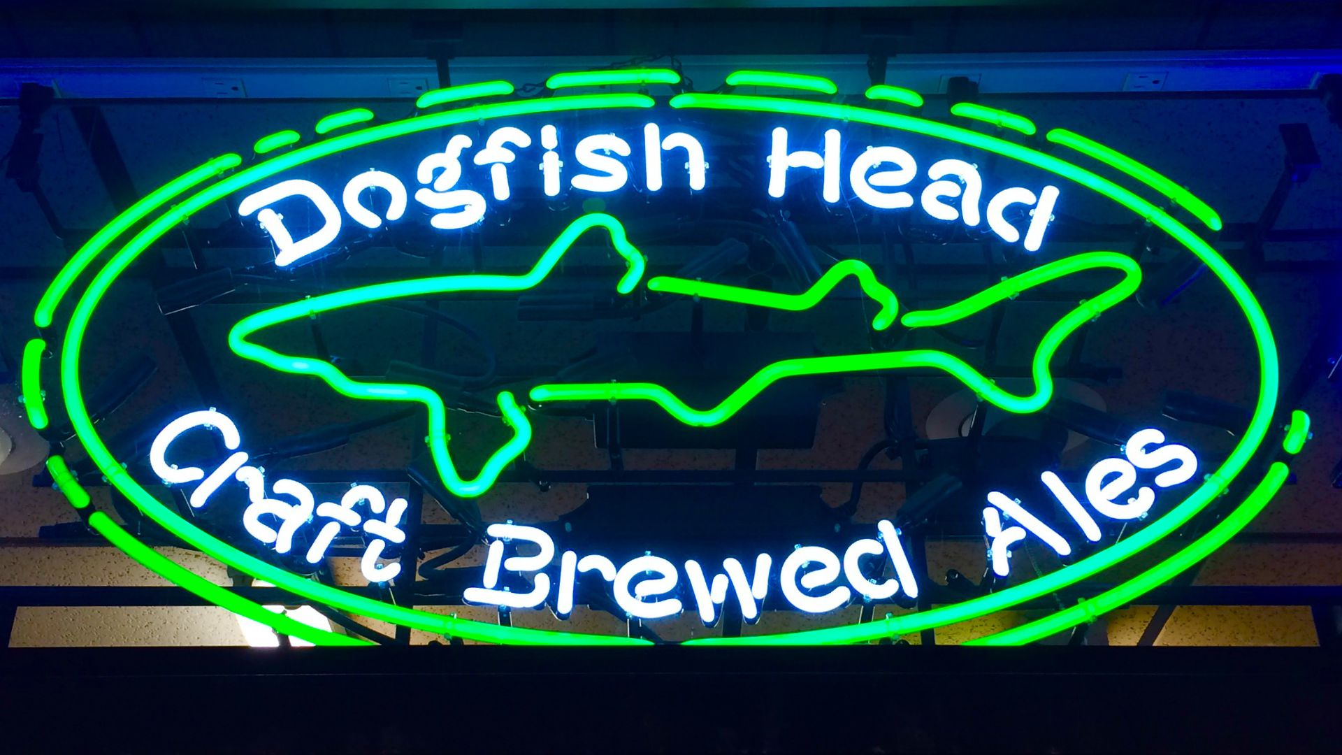 Dogfish Head Brewery neon sign