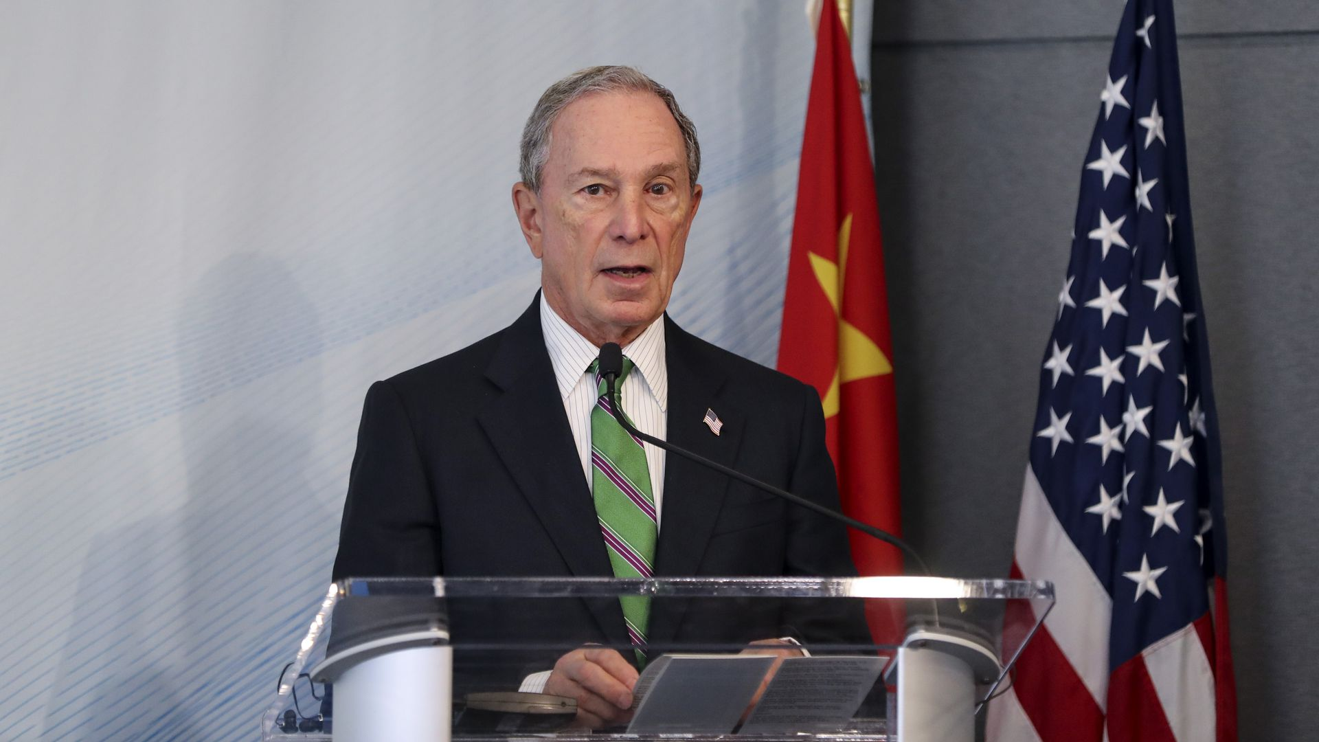 New York City mayor Michael Bloomberg delivers a speech at the High-level Dialogue on U.S.-China Economic Relations in New York, the United States, on June 14