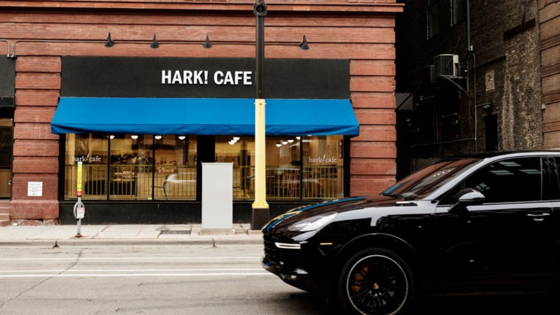 The exterior of Hark! Cafe in Minneapolis.