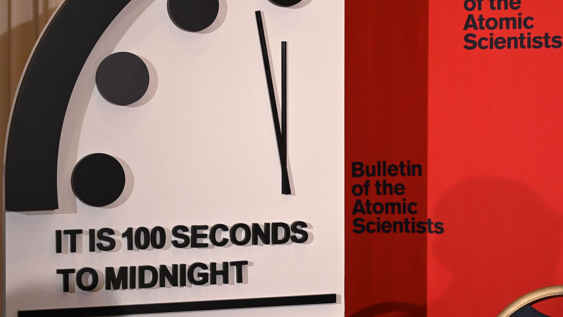 Doomsday Clock set at 100 seconds to midnight, the closest in its history