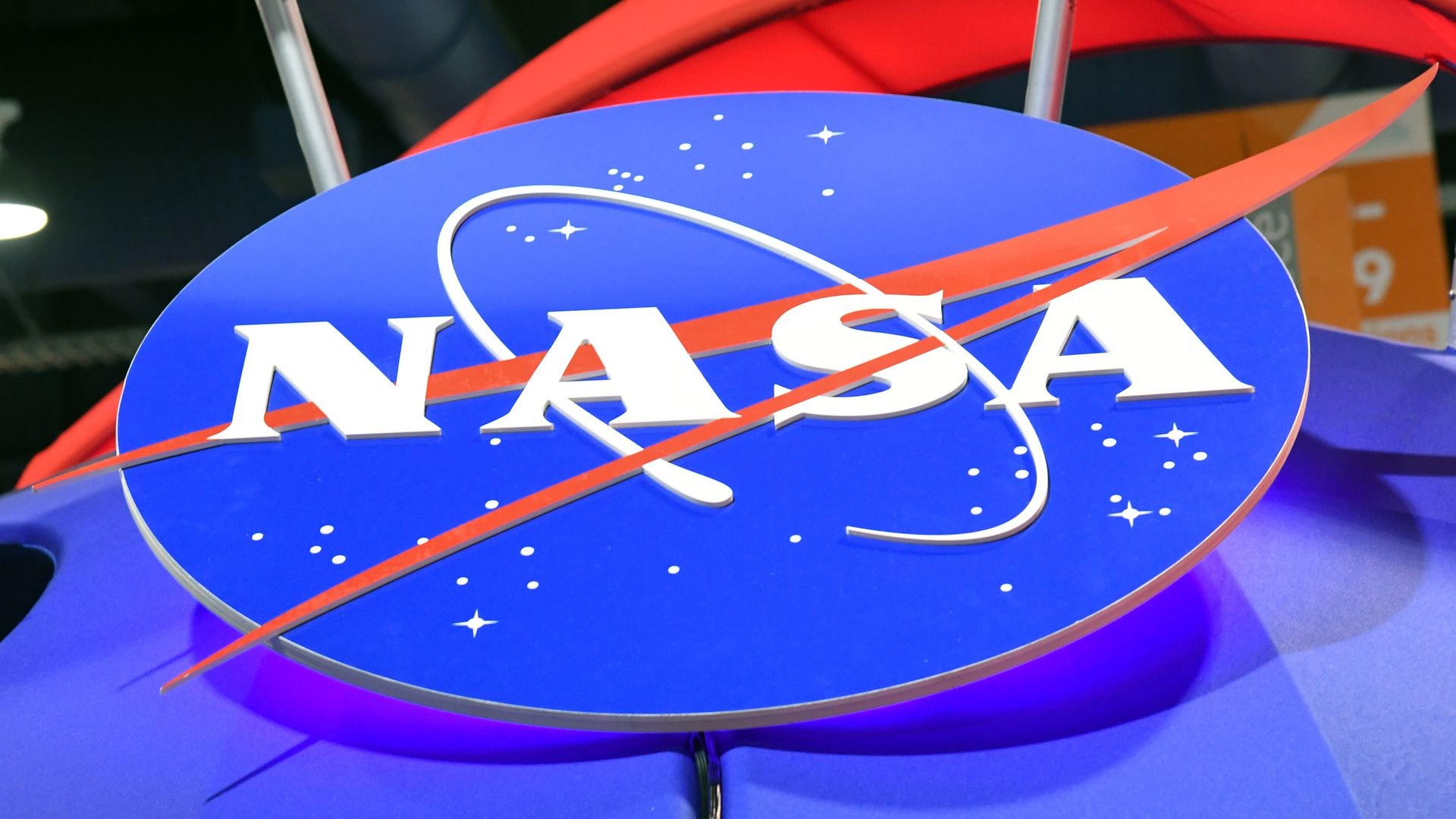 In this image, the NASA logo is displayed