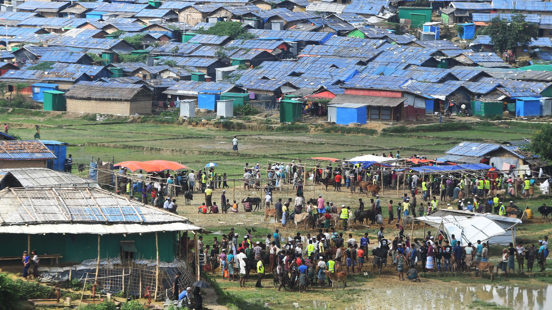 Rohingya Muslims at a refugee camp in Bangladesh