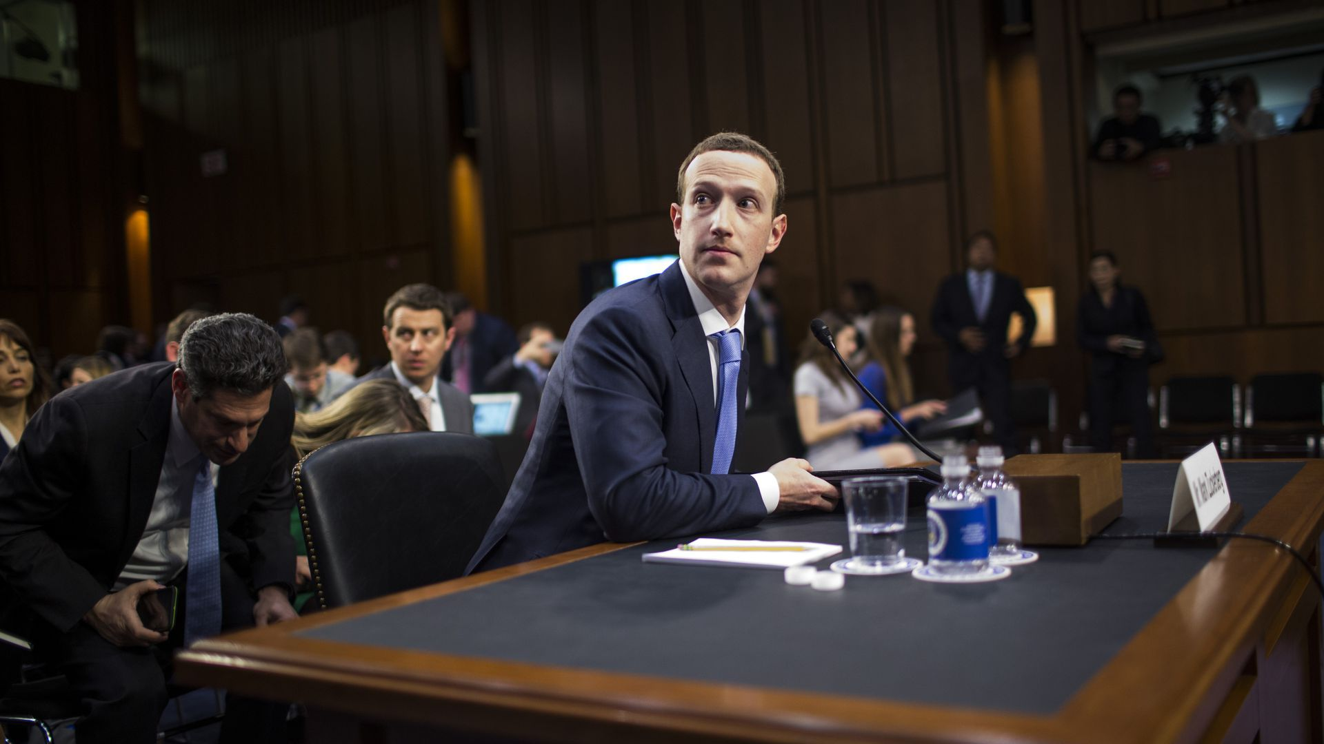 Facebook CEO Mark Zuckerberg testified before Congress last year. Photo: Zach Gibson/Getty Images