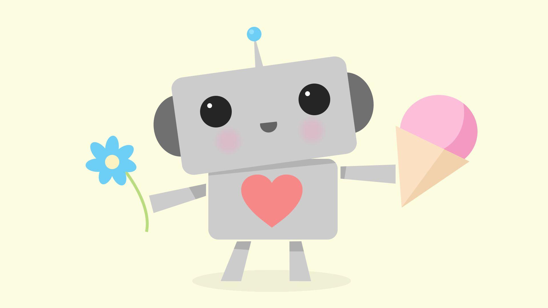 A very cute robot