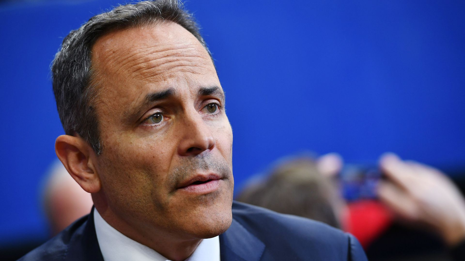 This image is a close up of Matt Bevin