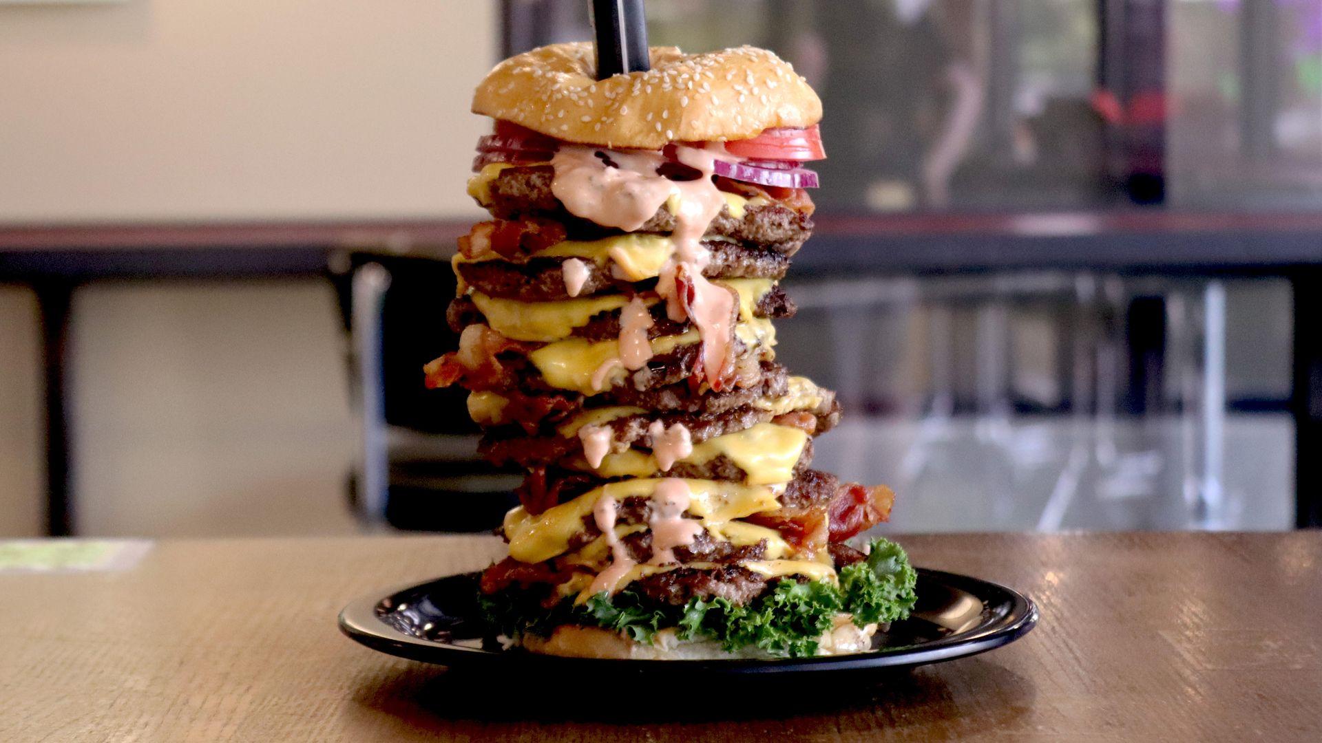 A photo of a burger.