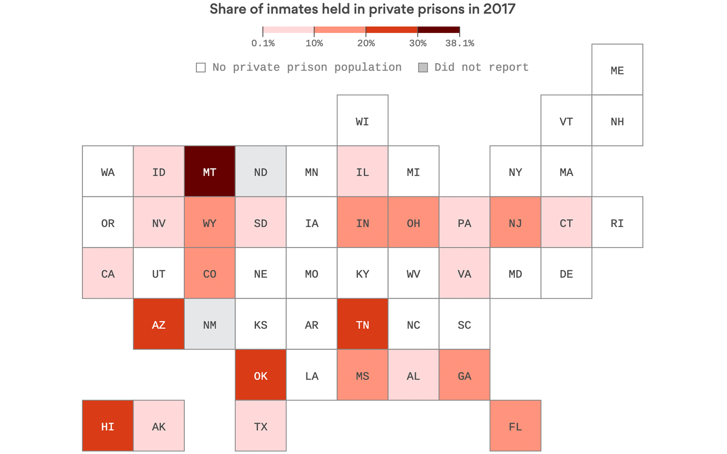 The states where private prisons are thriving - Axios