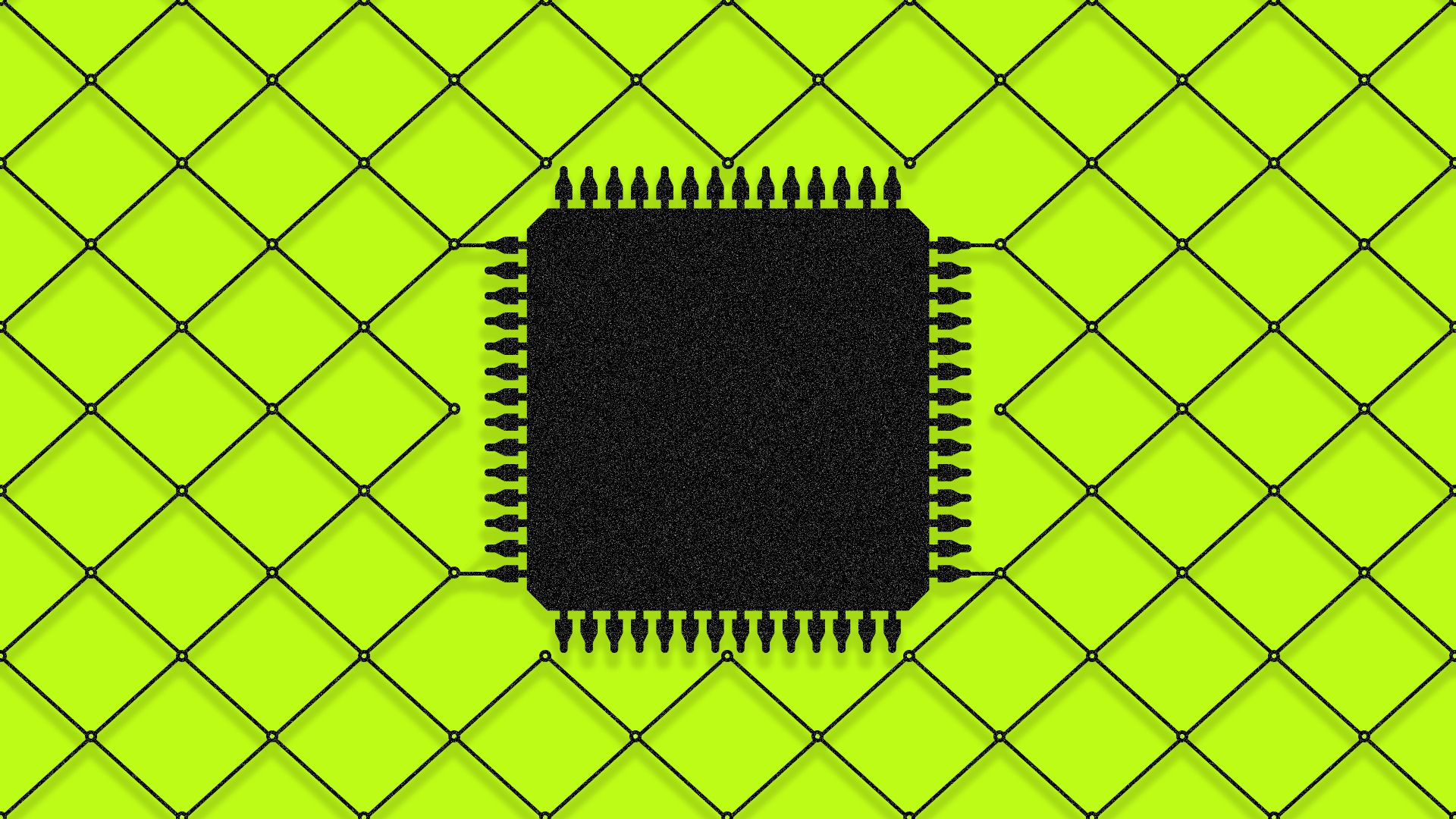 Illustration of a semiconductor chip