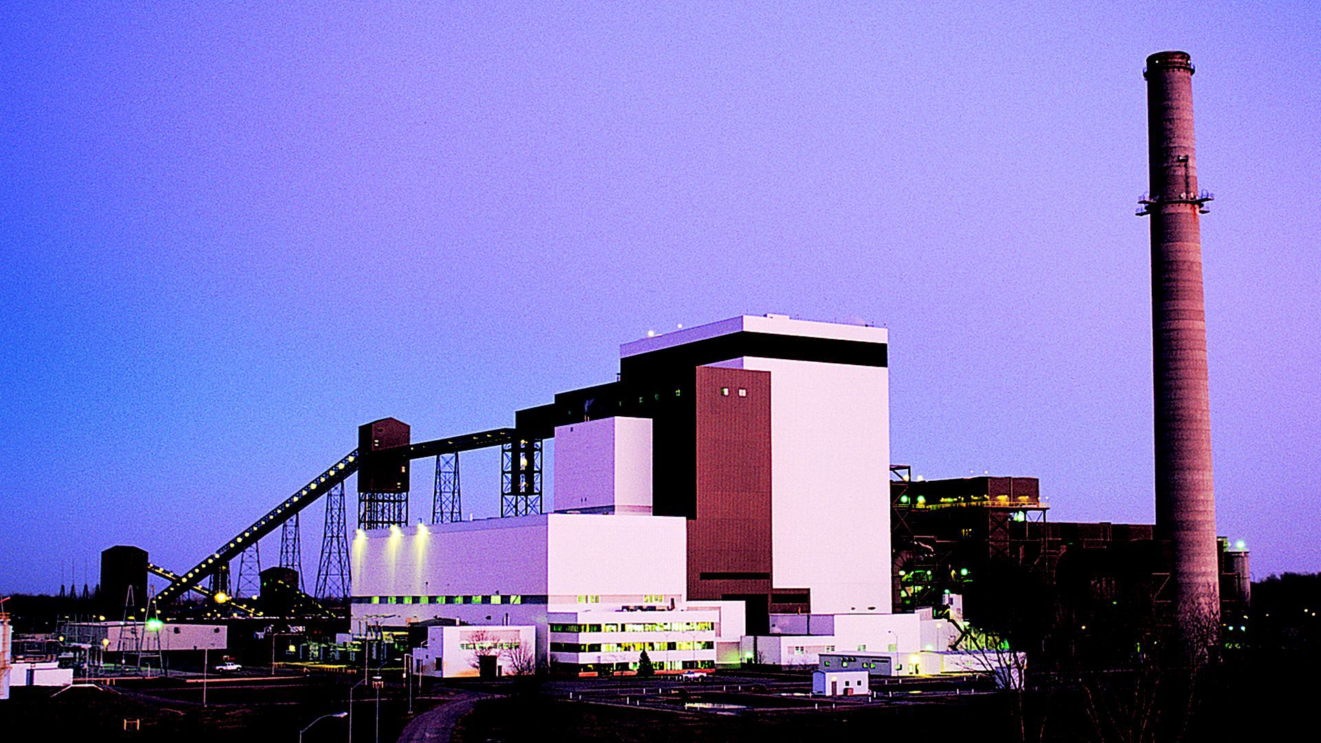 A photo of the MidAmerican's George Neal Center South plant near Sioux City.