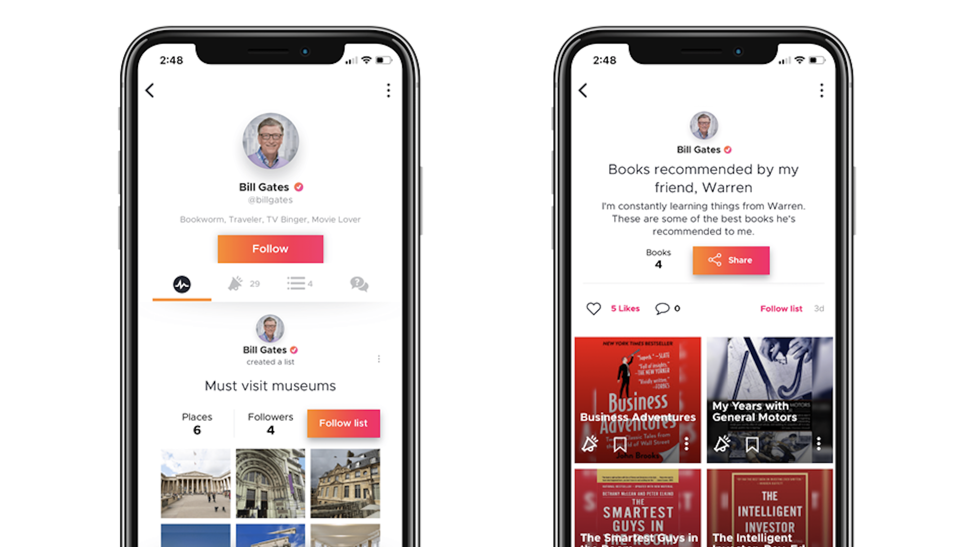 Bill Gates is backing a new social recommendation app