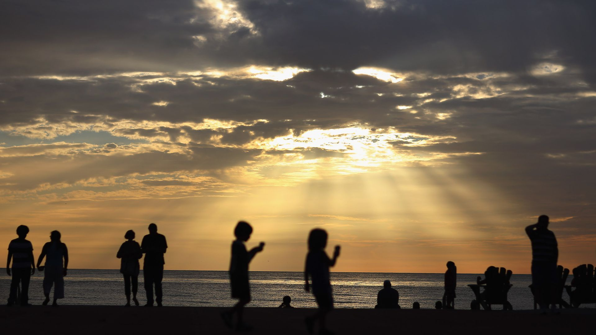 The sun starts its descent at St. Pete Beach. Photo: Joe Raedle/Getty Images