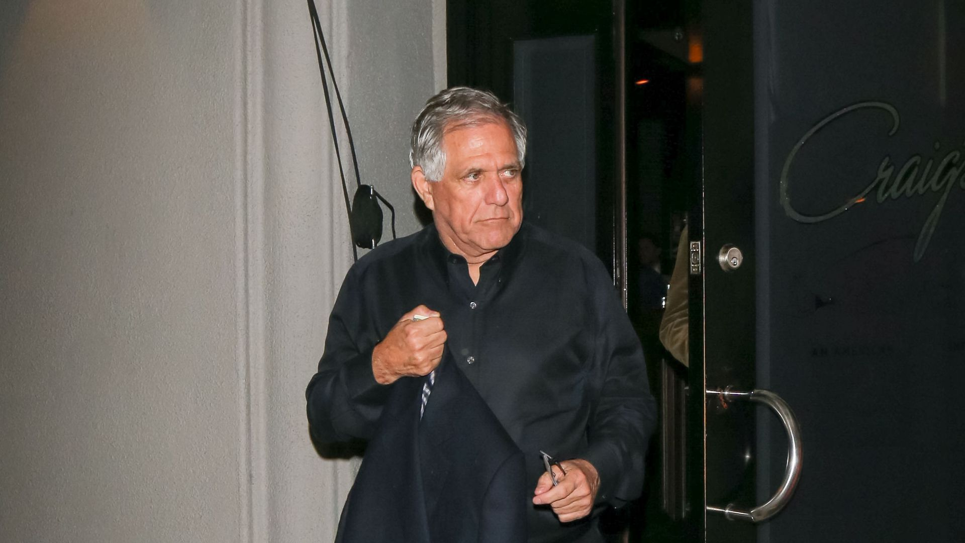 Les Moonves looks mad.