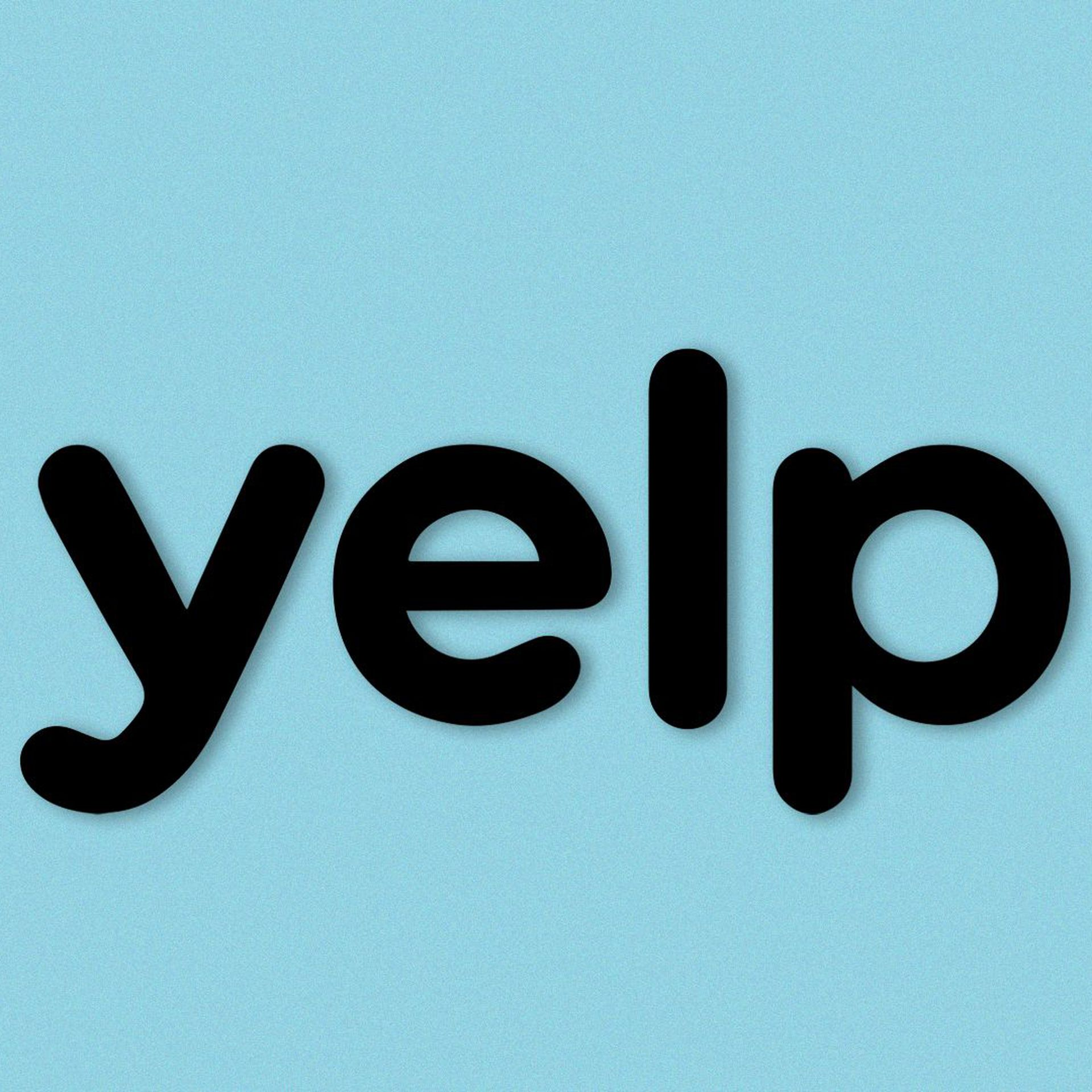 Illustration of Yelp logo with an angry face.