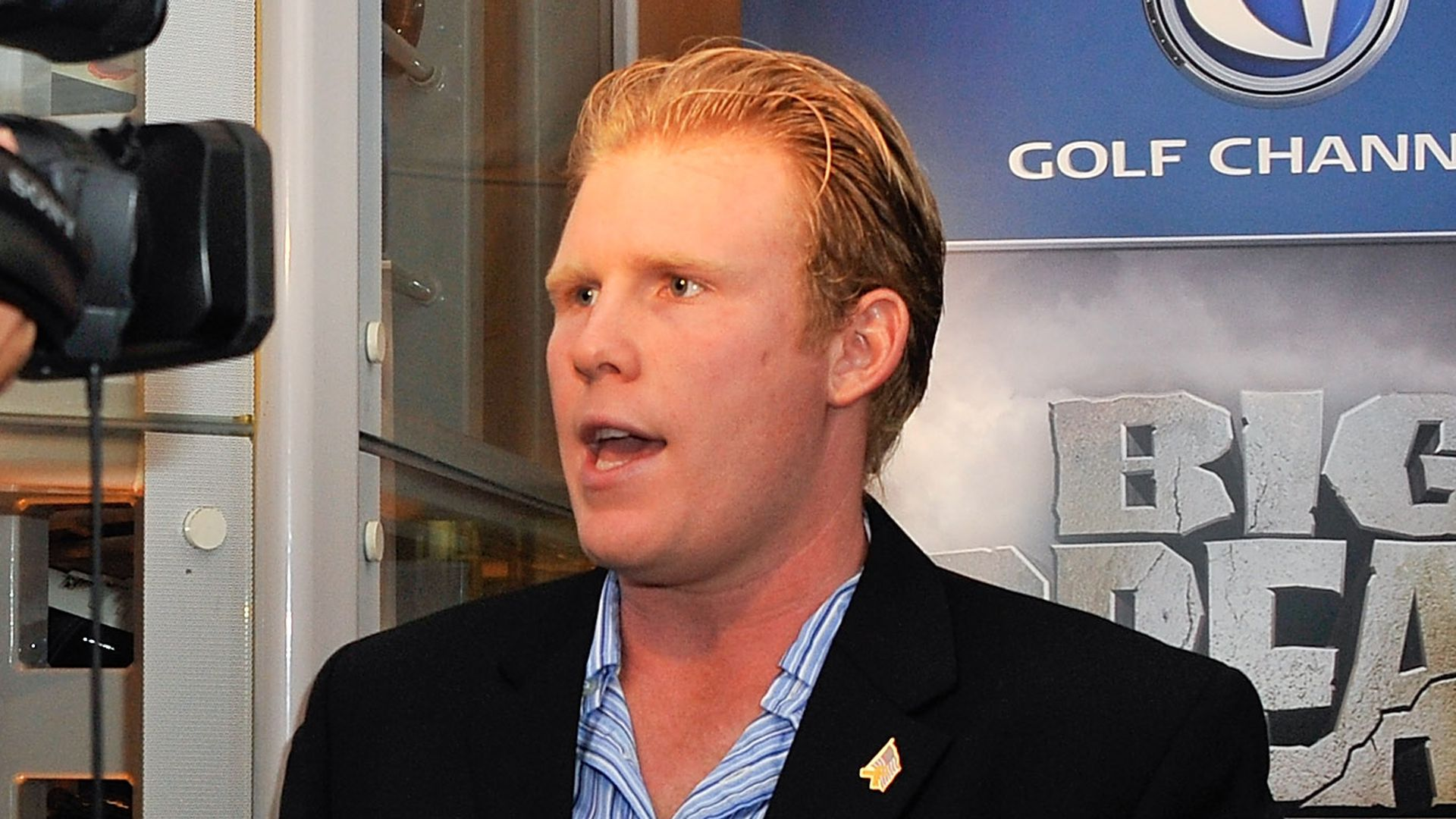 Andrew Giuliani speaks into a camera