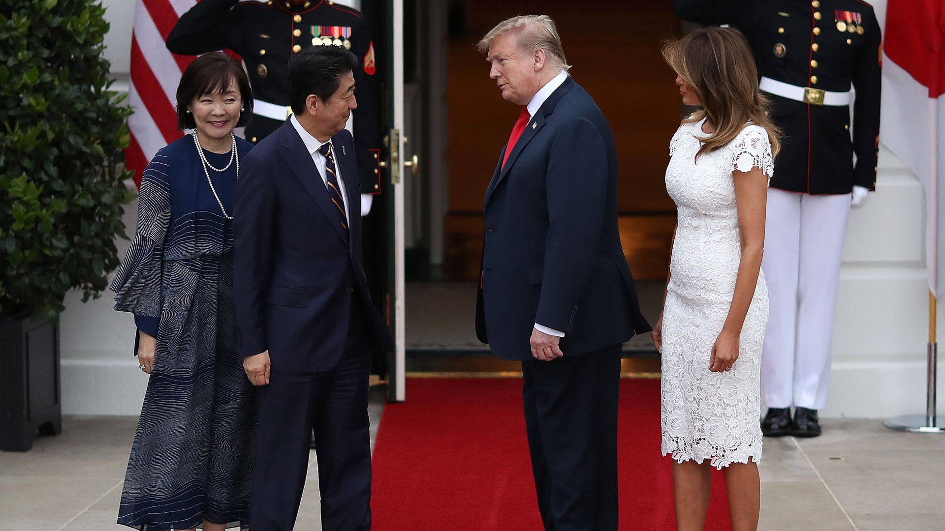 Trump with Shinzo Abe