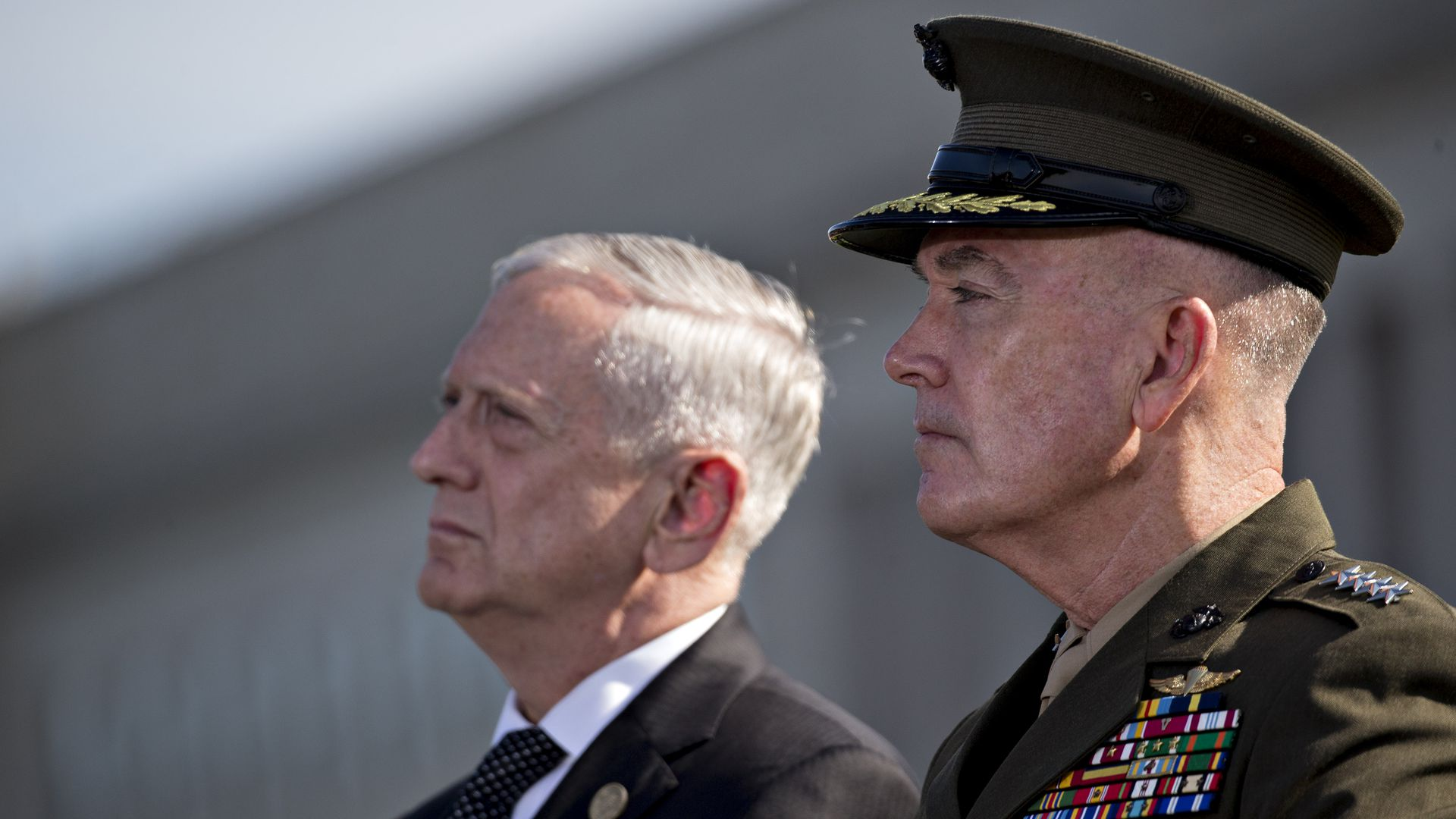 Defense Secretary Jim Mattis and Chairman of the Joint Chiefs of Staff Joseph Dunford.
