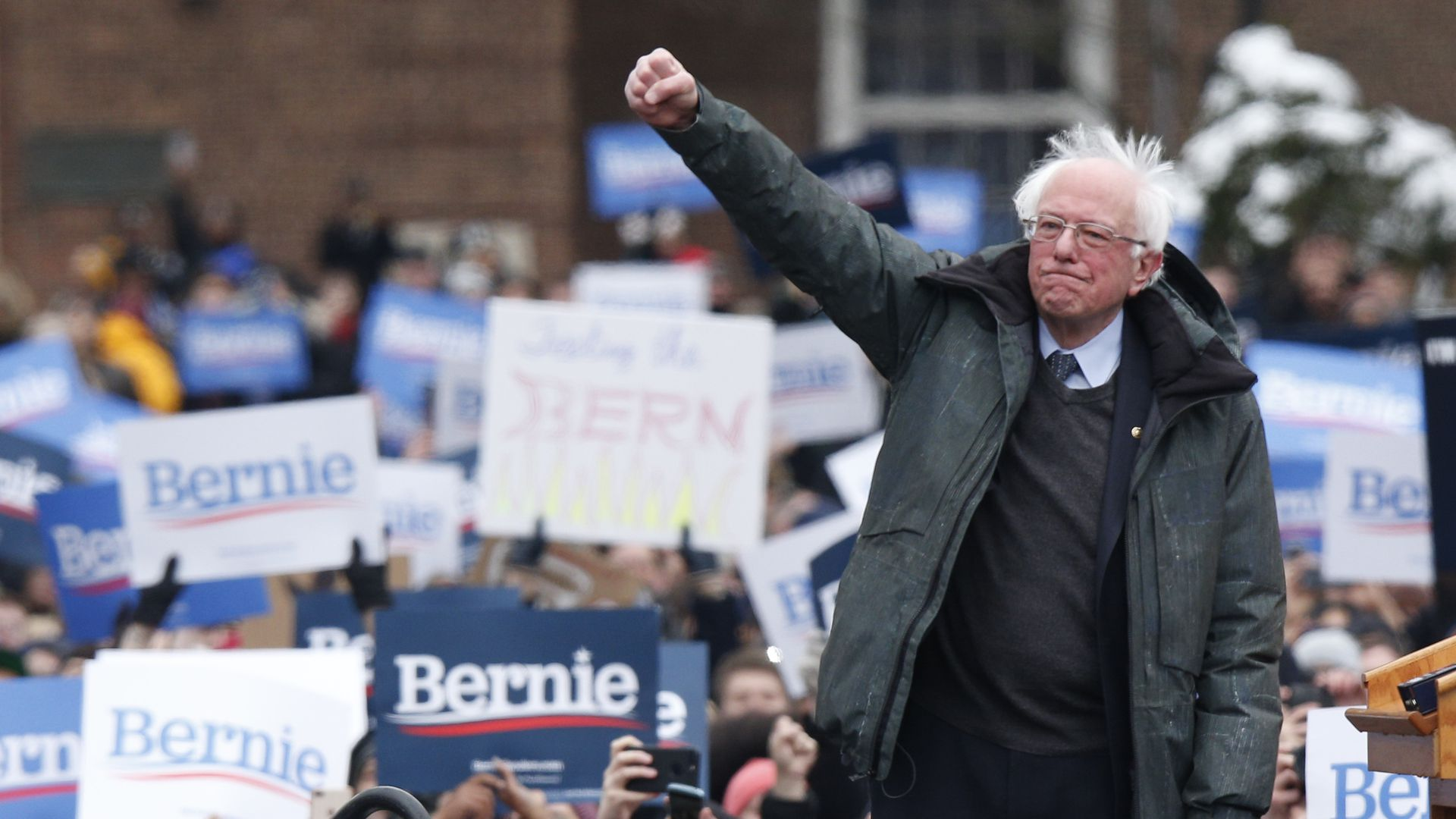 Bernie Sanders draws a huge crowd in Brooklyn, New York, for his first rally for 202.