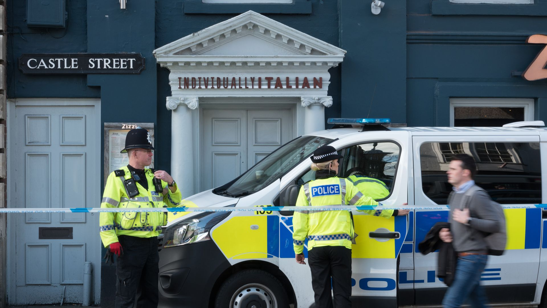 Police in Salisbury.