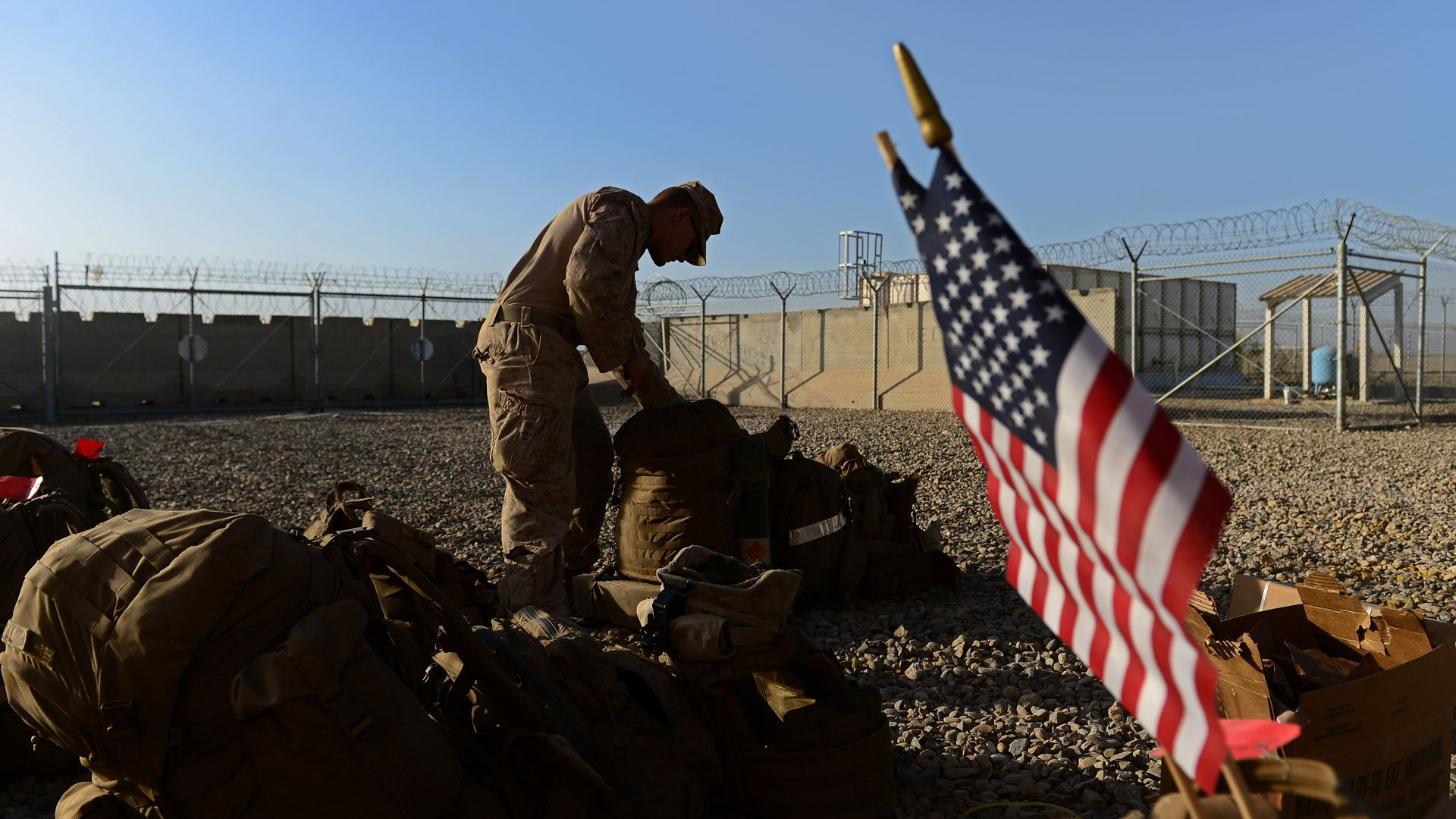 A US Marine in a military camp in Afghanistan. Photo: Wakil Kohsar WAKIL/AFP/Getty Images