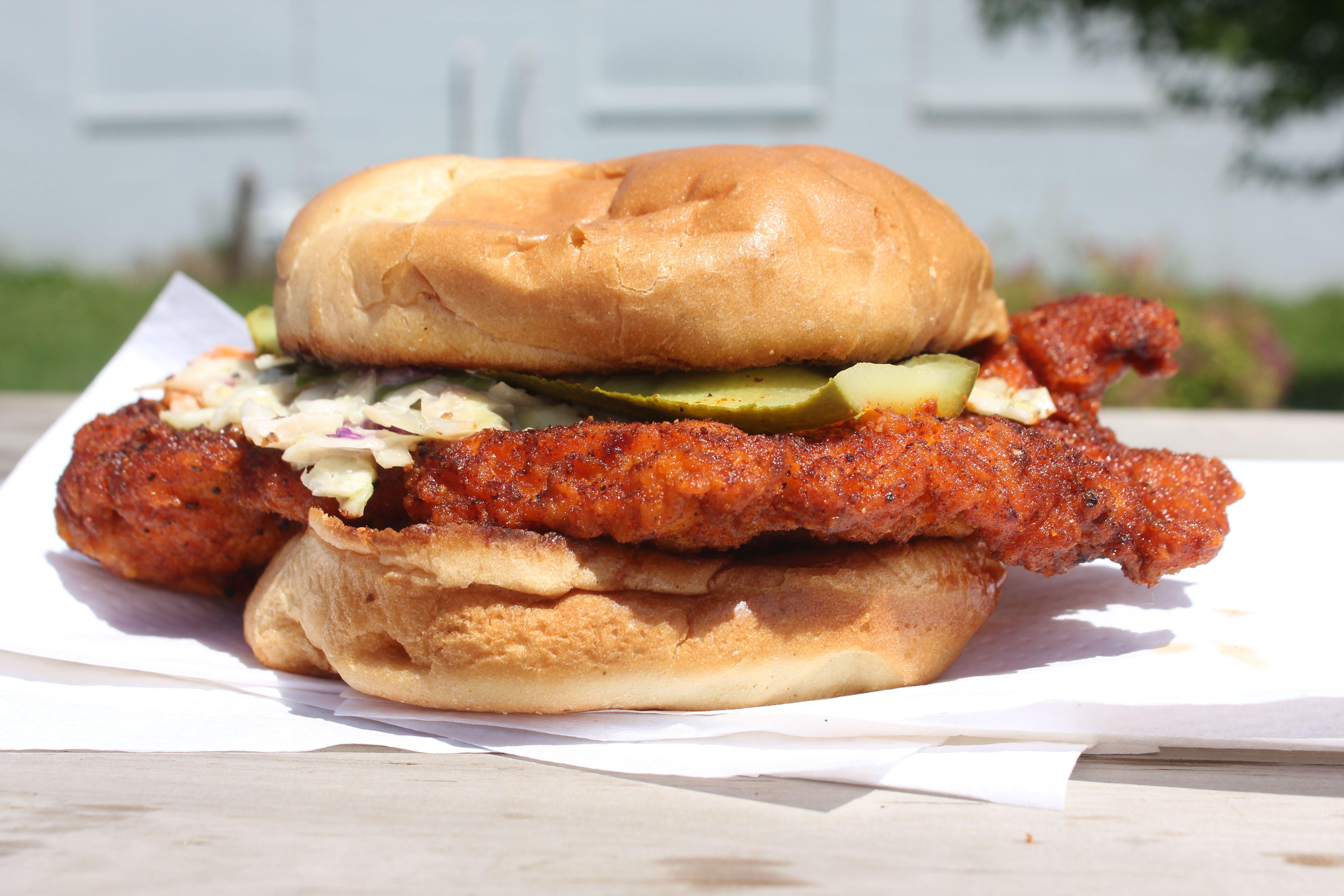 Chicken Heat's Carolina Reaper sandwich