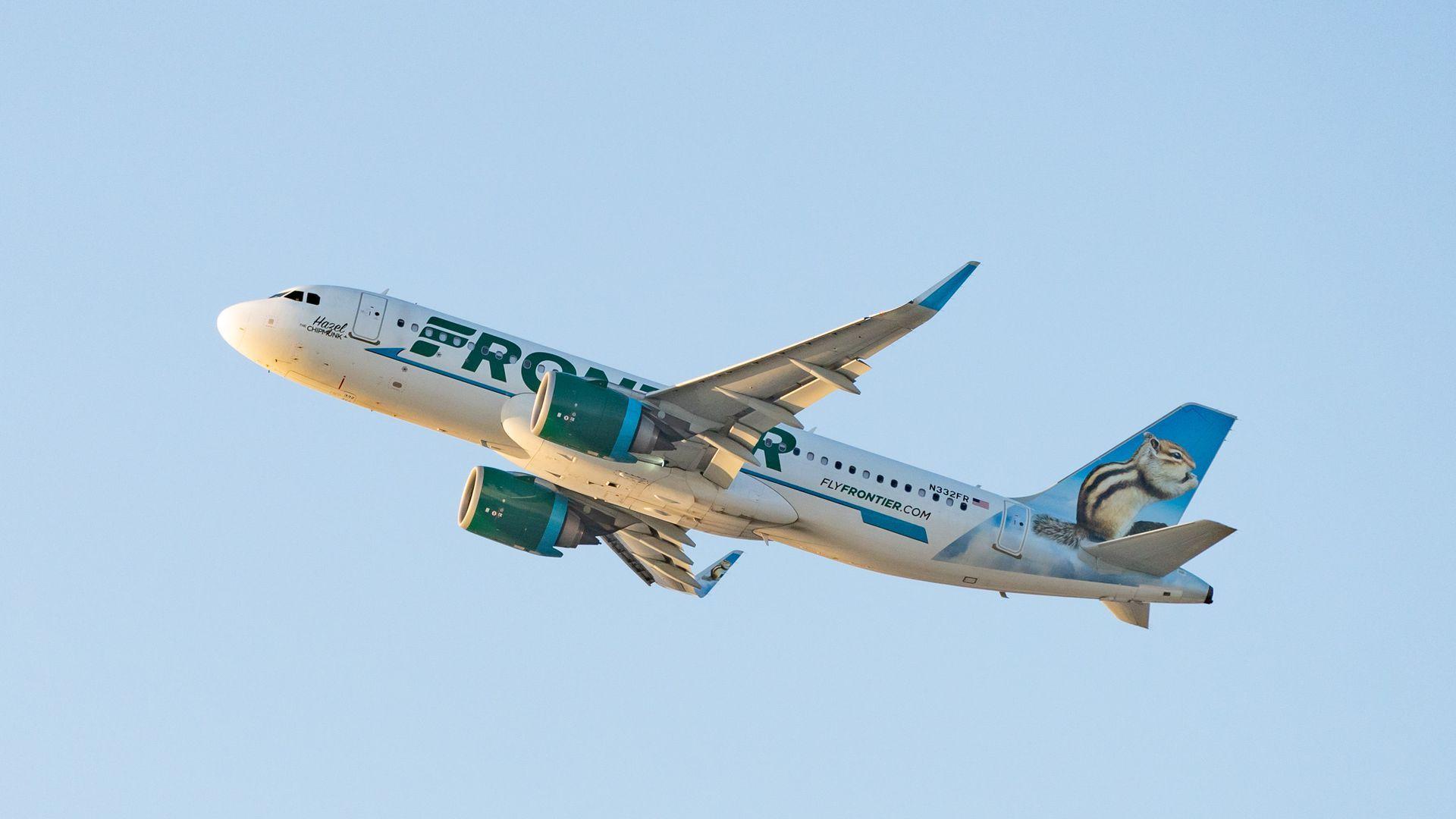 An airplane in the air