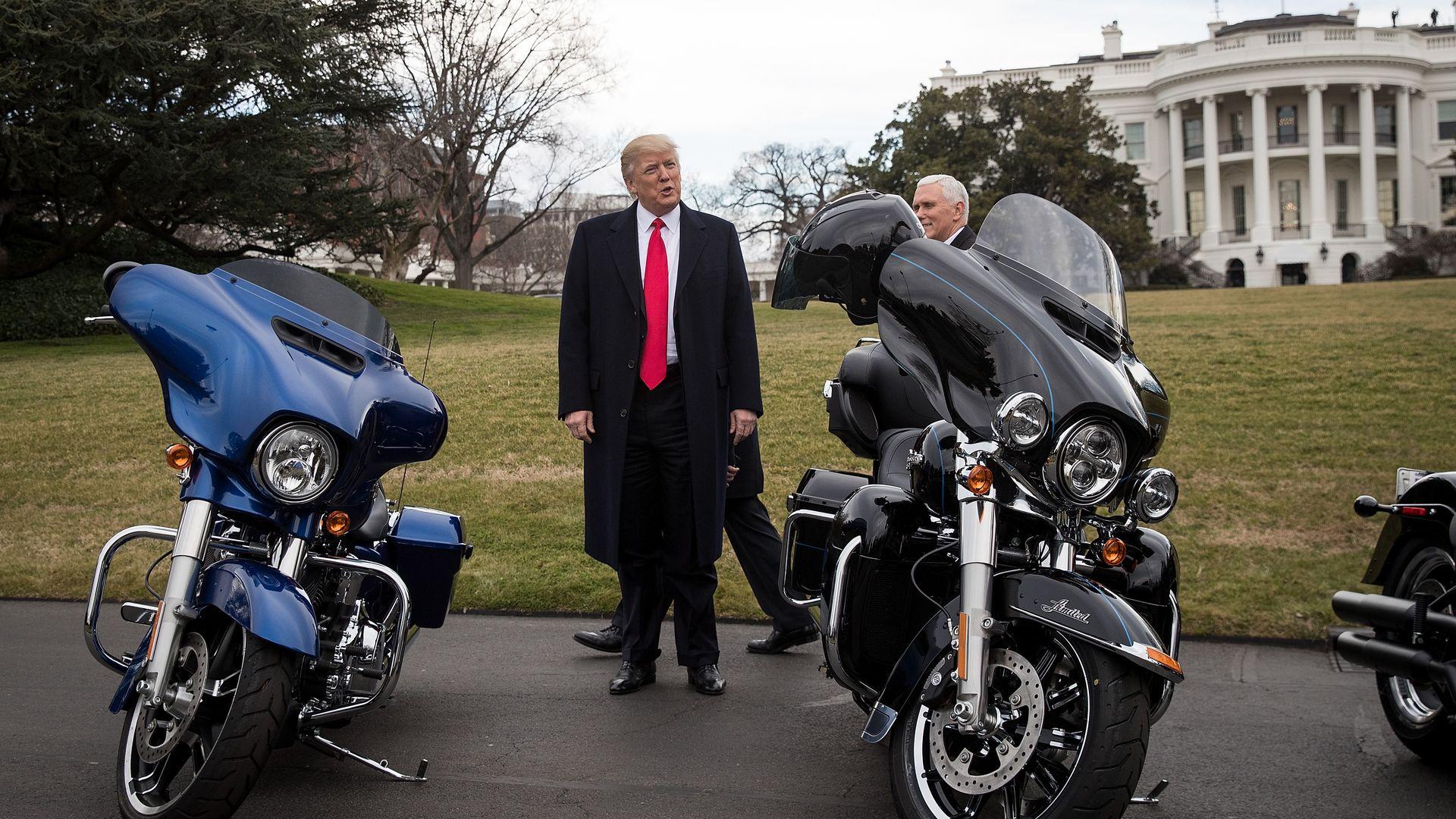 Trump defends Harley Davidson after encouraging boycott last year