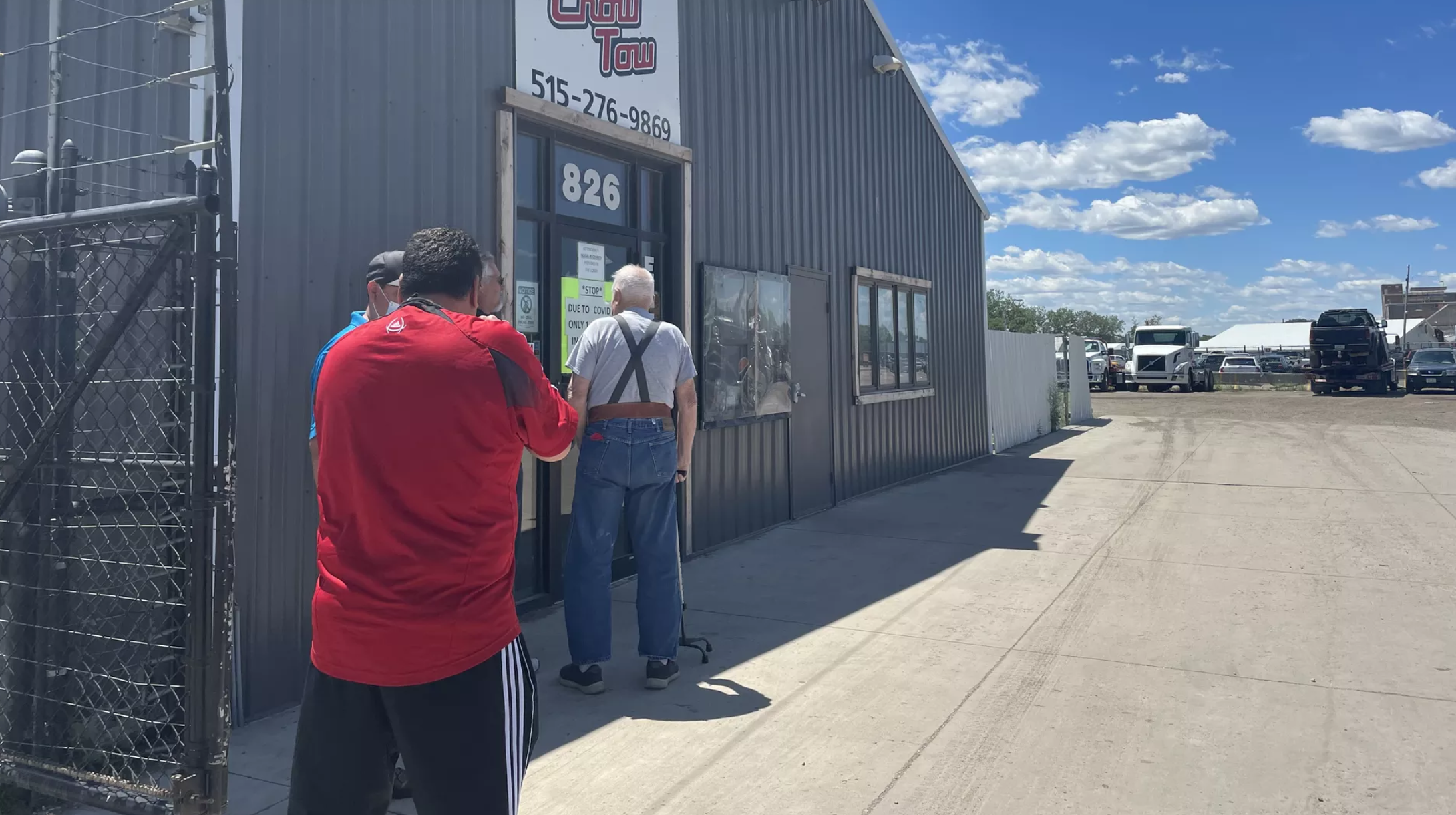 A line outside Crow Tow in Des Moines.