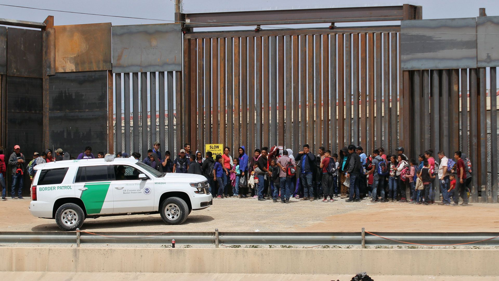 - Central American migrants are detained by US Customs and Border Patrol agents at the border wall in Ciudad Juarez, Chihuahua state, Mexico, on May 7, 2019.