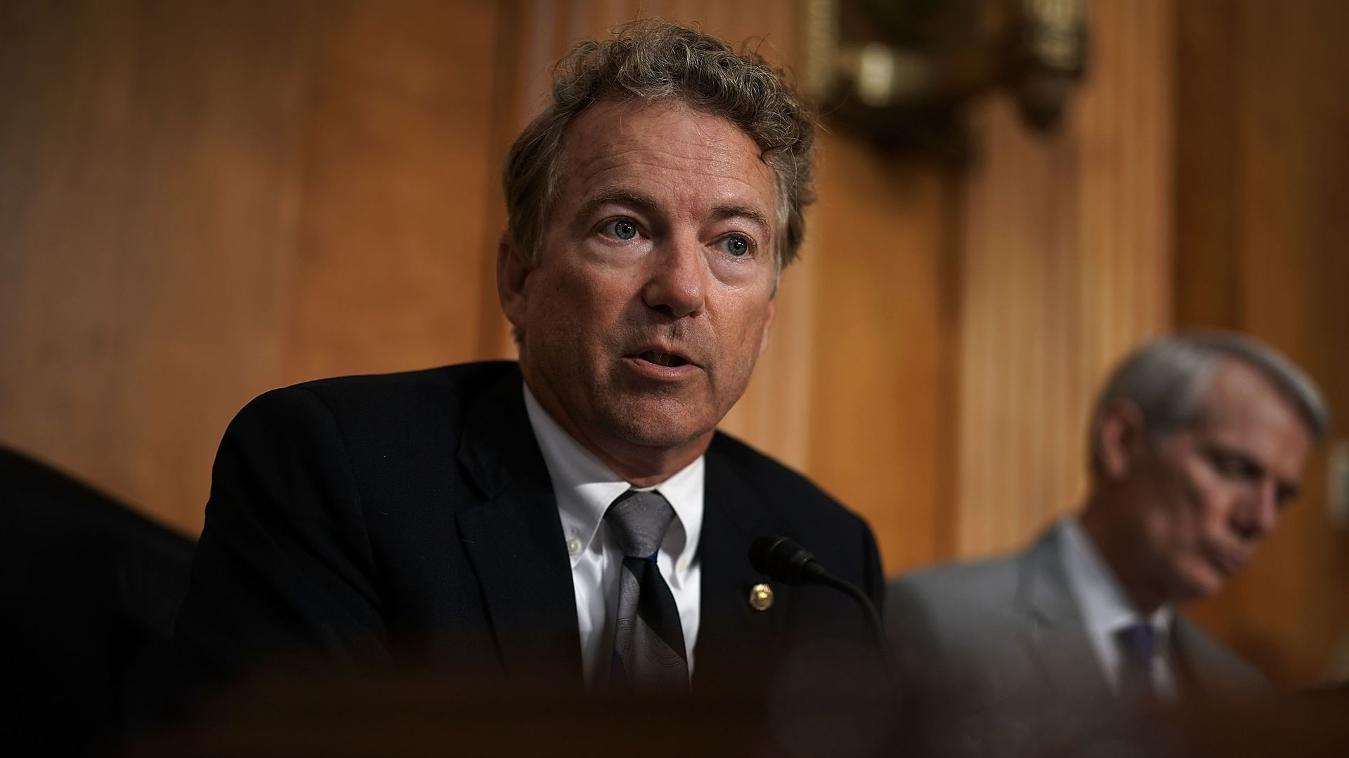 Sen. Rand Paul (R-KY) speaks during a hearing before Senate Foreign Relations Committee